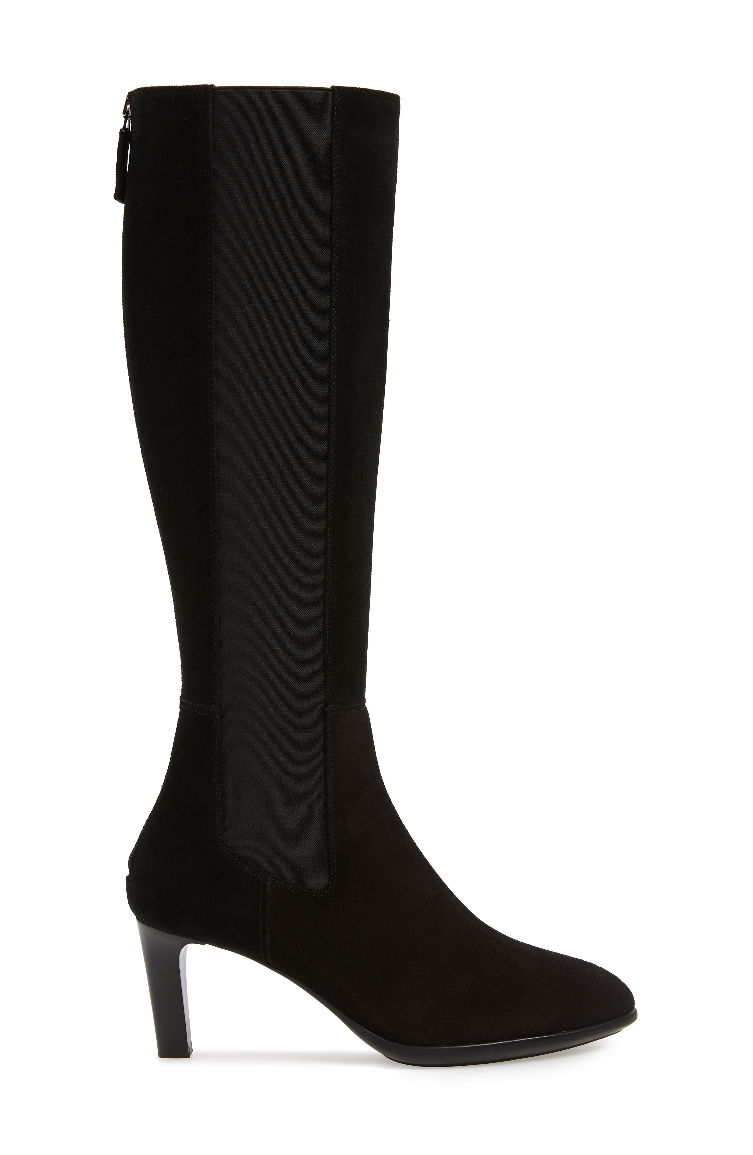 AQUATALIA, Dahliana Weatherproof Knee High Boot, Alternate thumbnail 3, color, BLACK