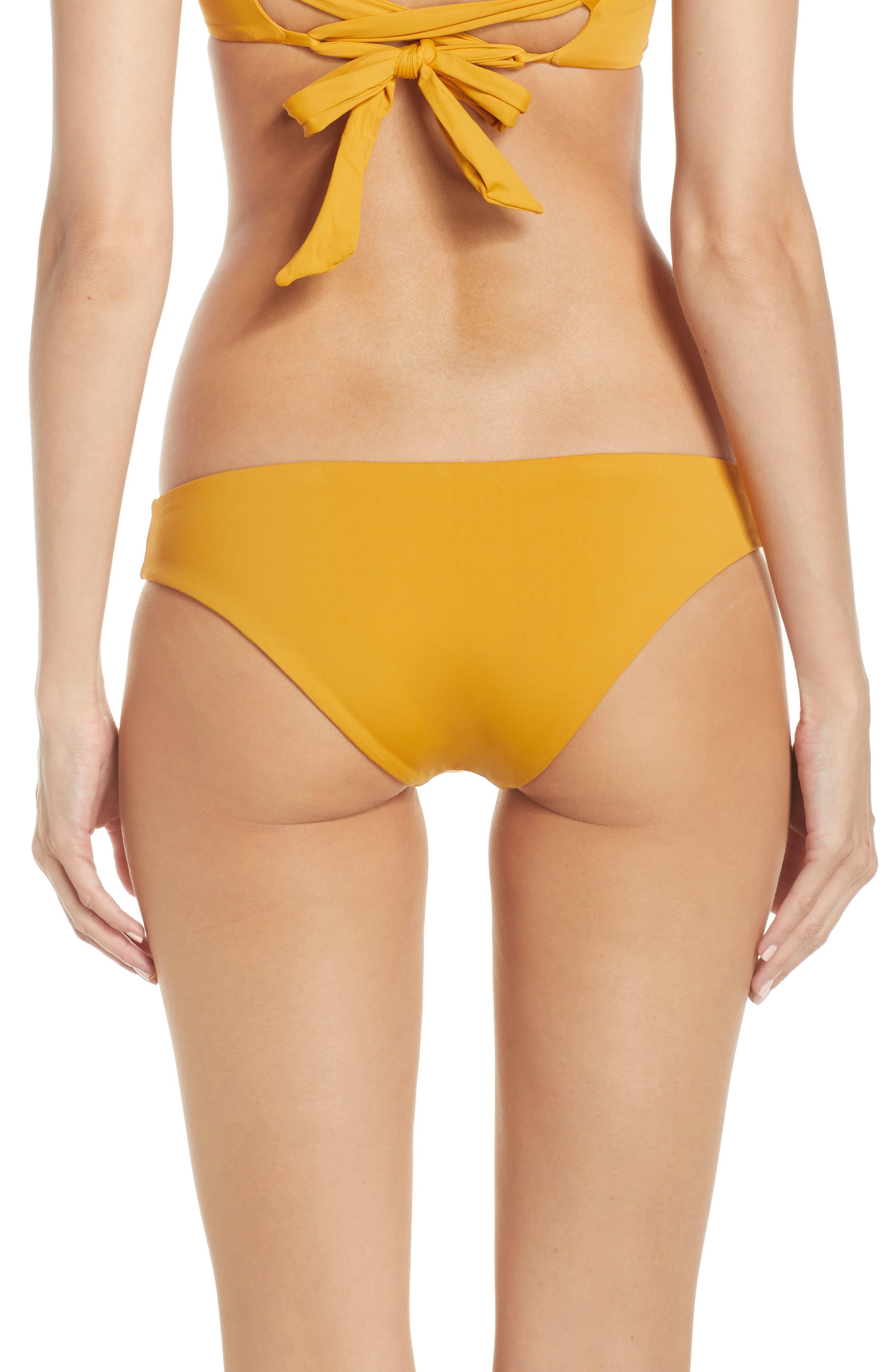 L SPACE, Sandy Classic Bikini Bottoms, Alternate thumbnail 2, color, BRONZE