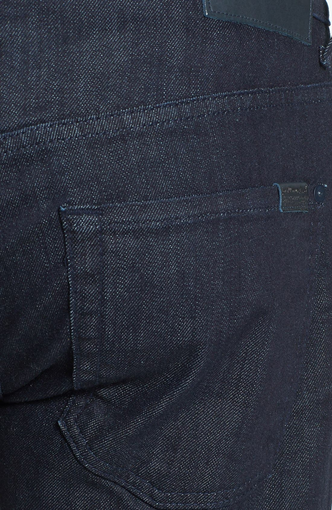 7 FOR ALL MANKIND<SUP>®</SUP>, The Straight - Luxe Performance Slim Straight Leg Jeans, Alternate thumbnail 5, color, DEEP WELL