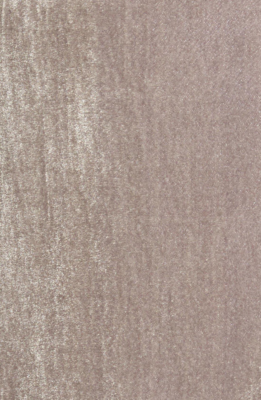 WAYF, Next to You Velvet Wrap Dress, Alternate thumbnail 8, color, 051