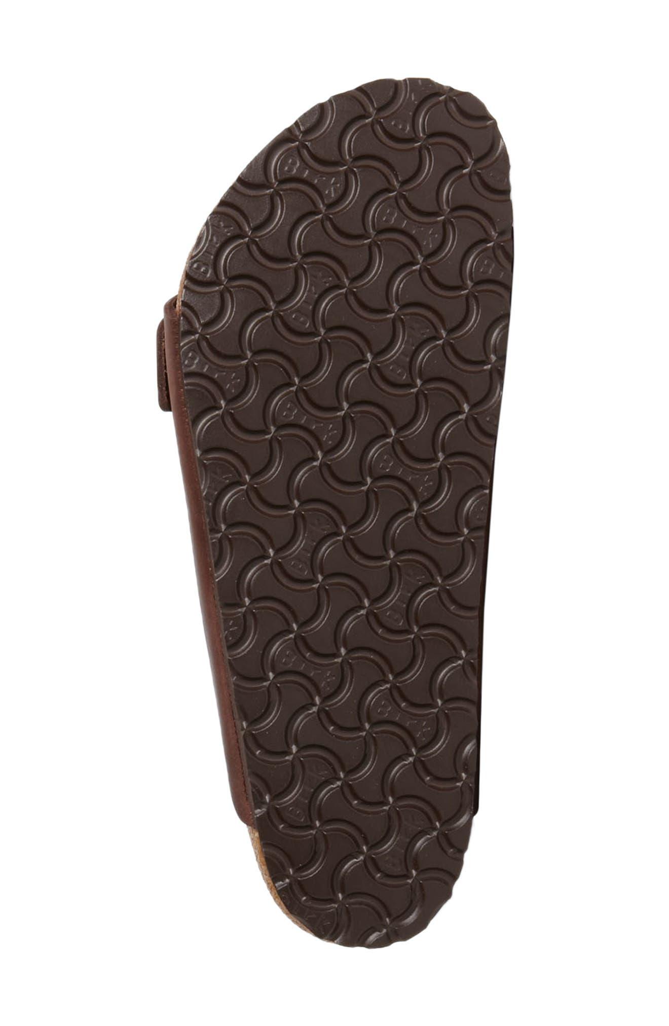 BIRKENSTOCK, Arizona Slide Sandal, Alternate thumbnail 4, color, HABANA OILED BROWN