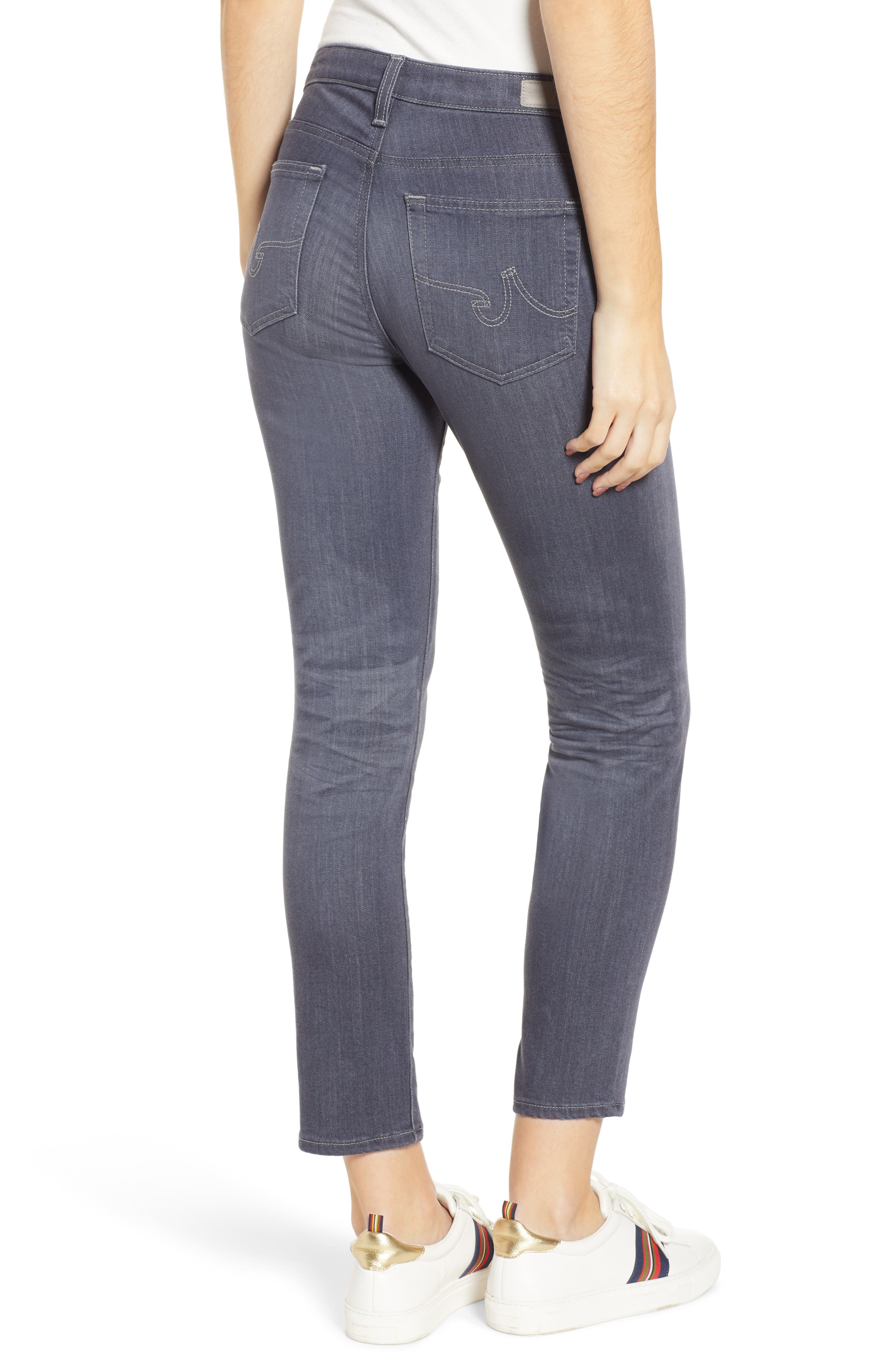 AG, The Prima Crop Cigarette Jeans, Alternate thumbnail 2, color, 08 YEAR SMOKY DUST