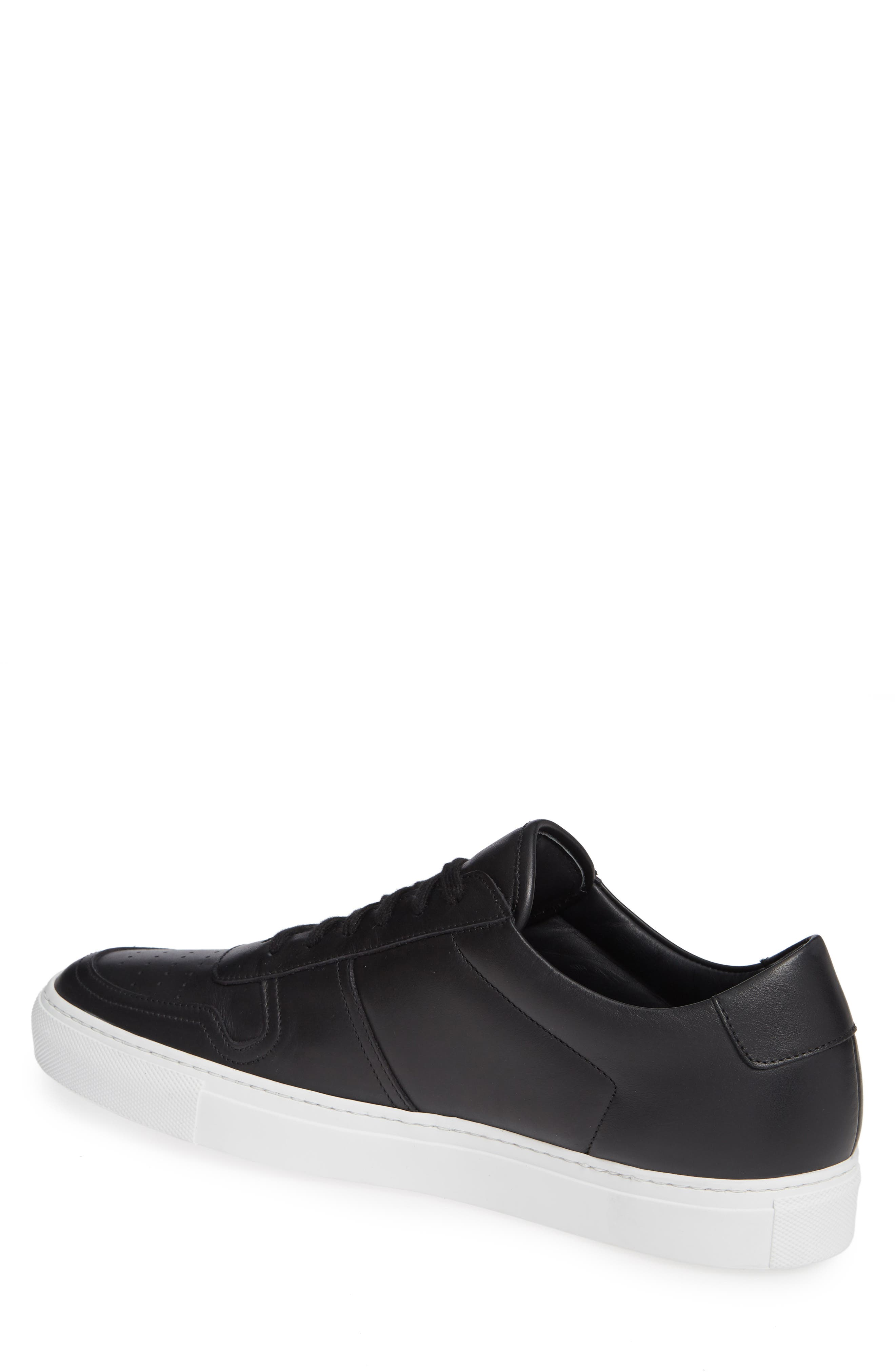 COMMON PROJECTS, Bball Low Top Sneaker, Alternate thumbnail 2, color, BLACK