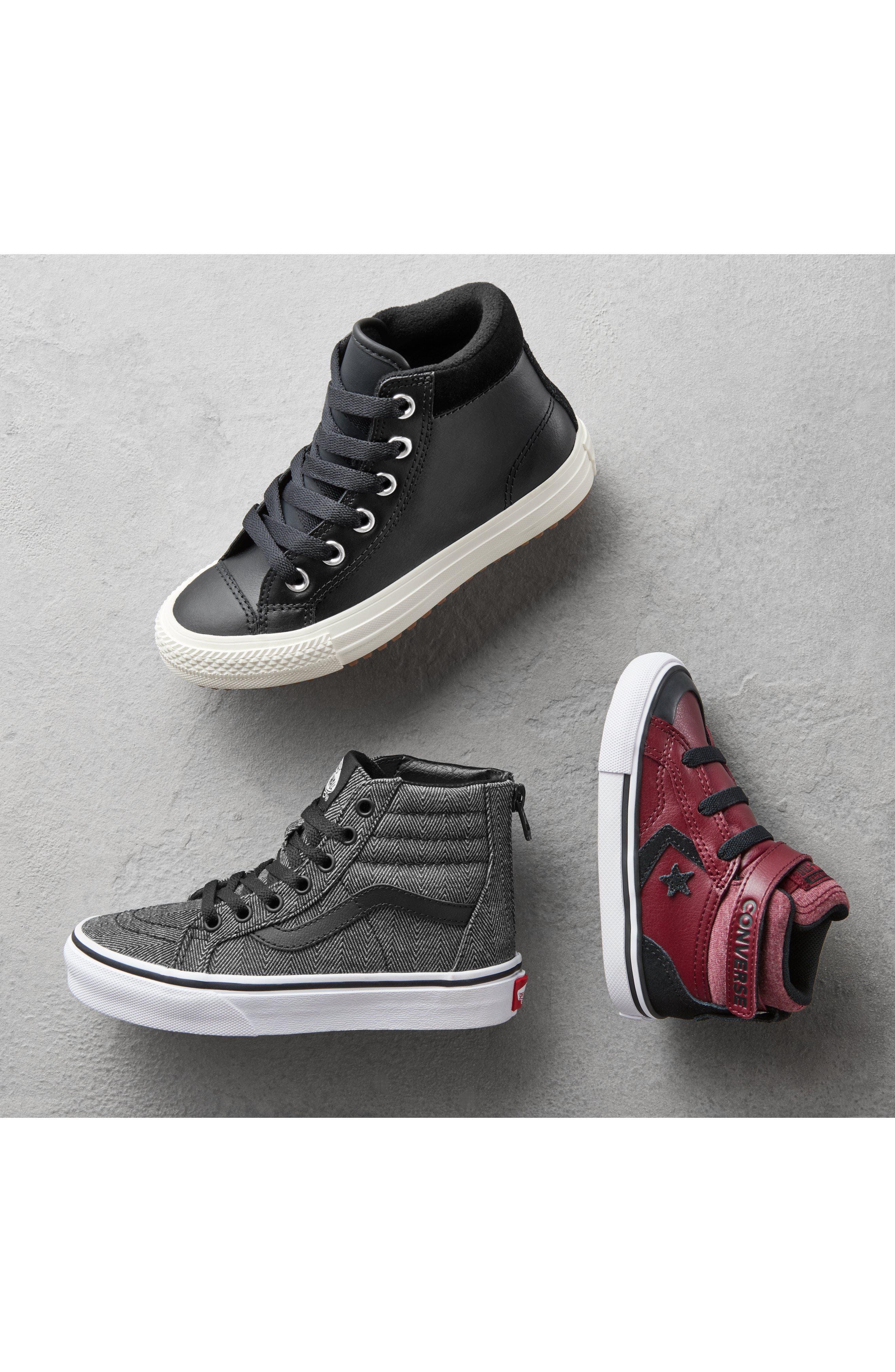 CONVERSE, Pro Blaze High Top Sneaker, Alternate thumbnail 7, color, BLACK/ WHITE/ WHITE