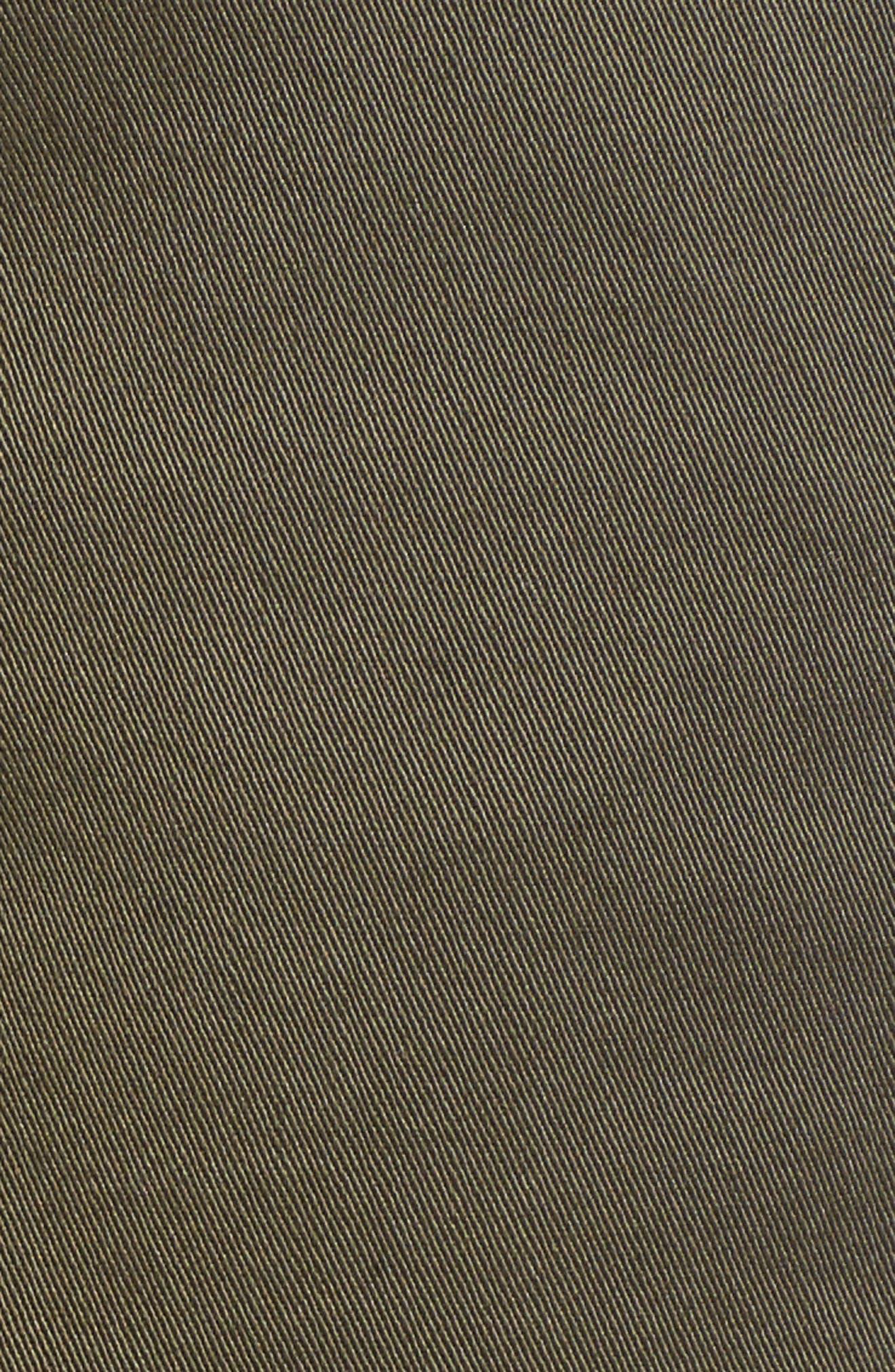 CASLON<SUP>®</SUP>, Twill Shorts, Alternate thumbnail 6, color, OLIVE SARMA
