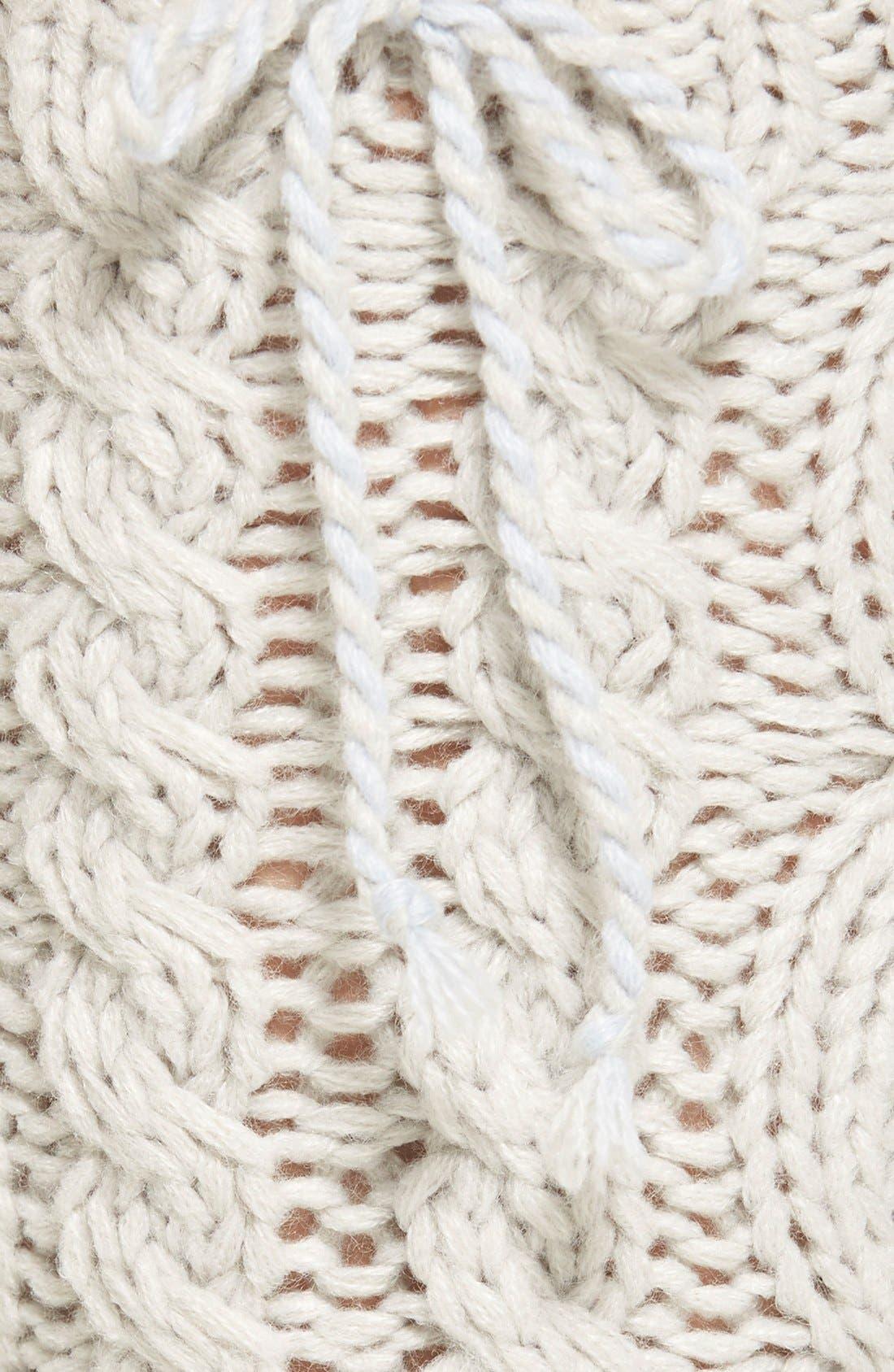 LEMON, 'Arctic' Cable Knit Knee High Slippers, Alternate thumbnail 2, color, 020