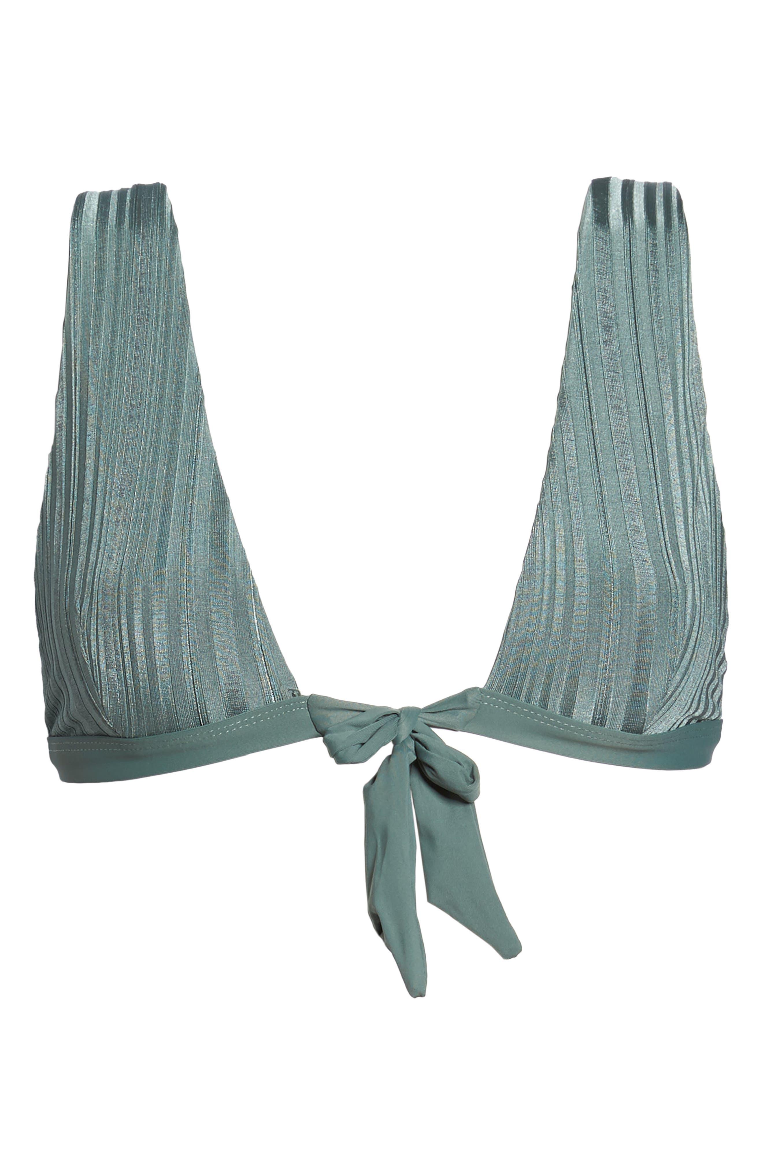 TAVIK, Caroline Bikini Top, Alternate thumbnail 7, color, MEADOW GREEN