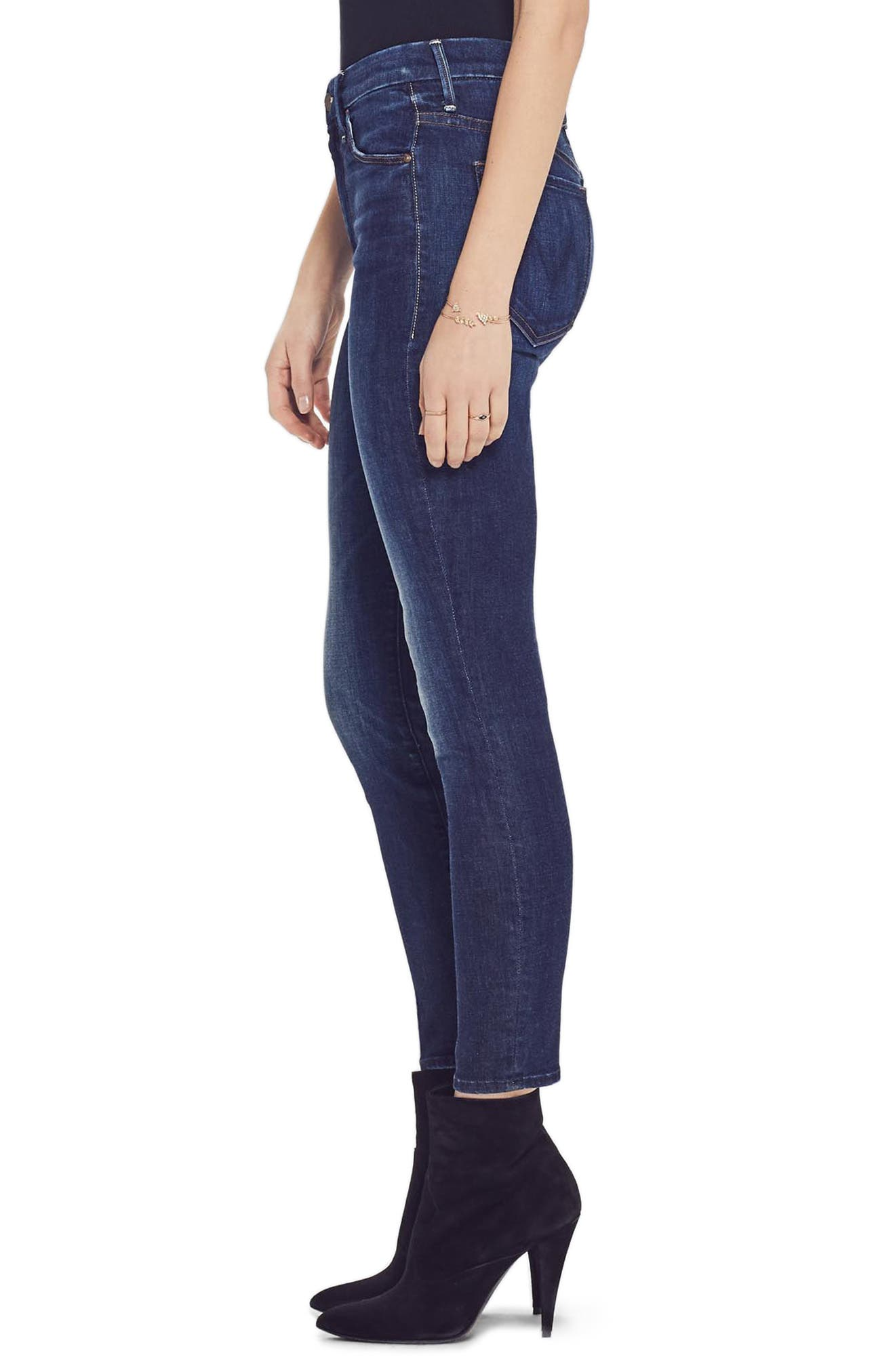 MOTHER, The Looker High Waist Ankle Jeans, Alternate thumbnail 3, color, 410