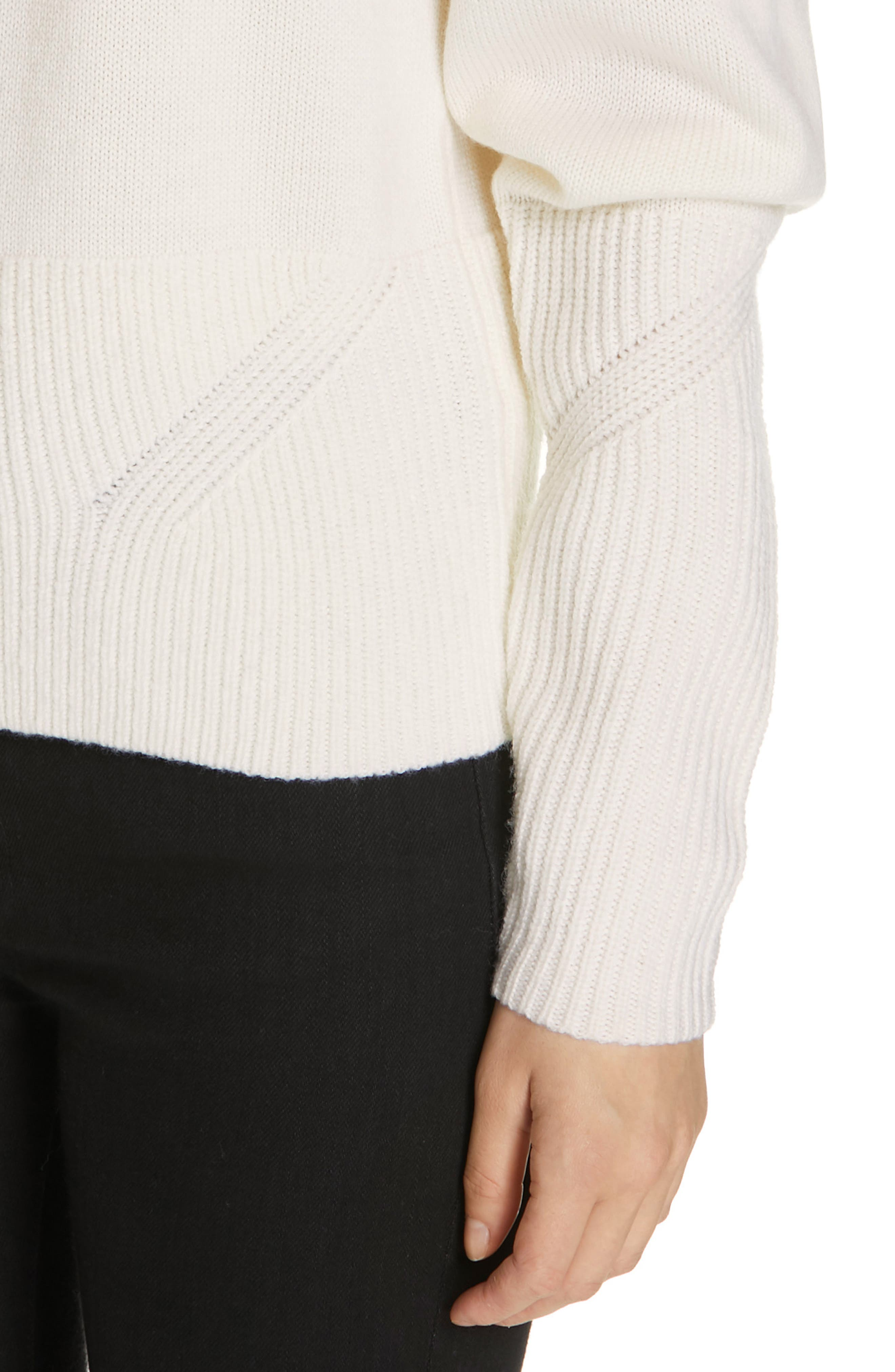 JOIE, Marquetta Sweater, Alternate thumbnail 4, color, 100