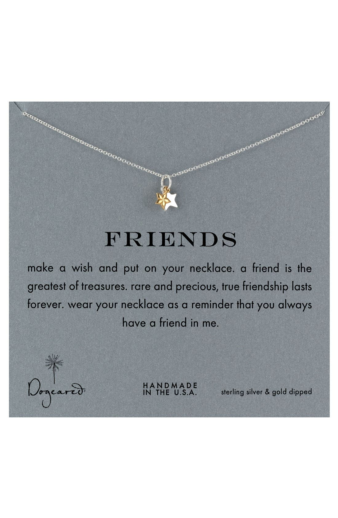 DOGEARED, 'Reminder - Sisters' Pendant Necklace, Main thumbnail 1, color, 040