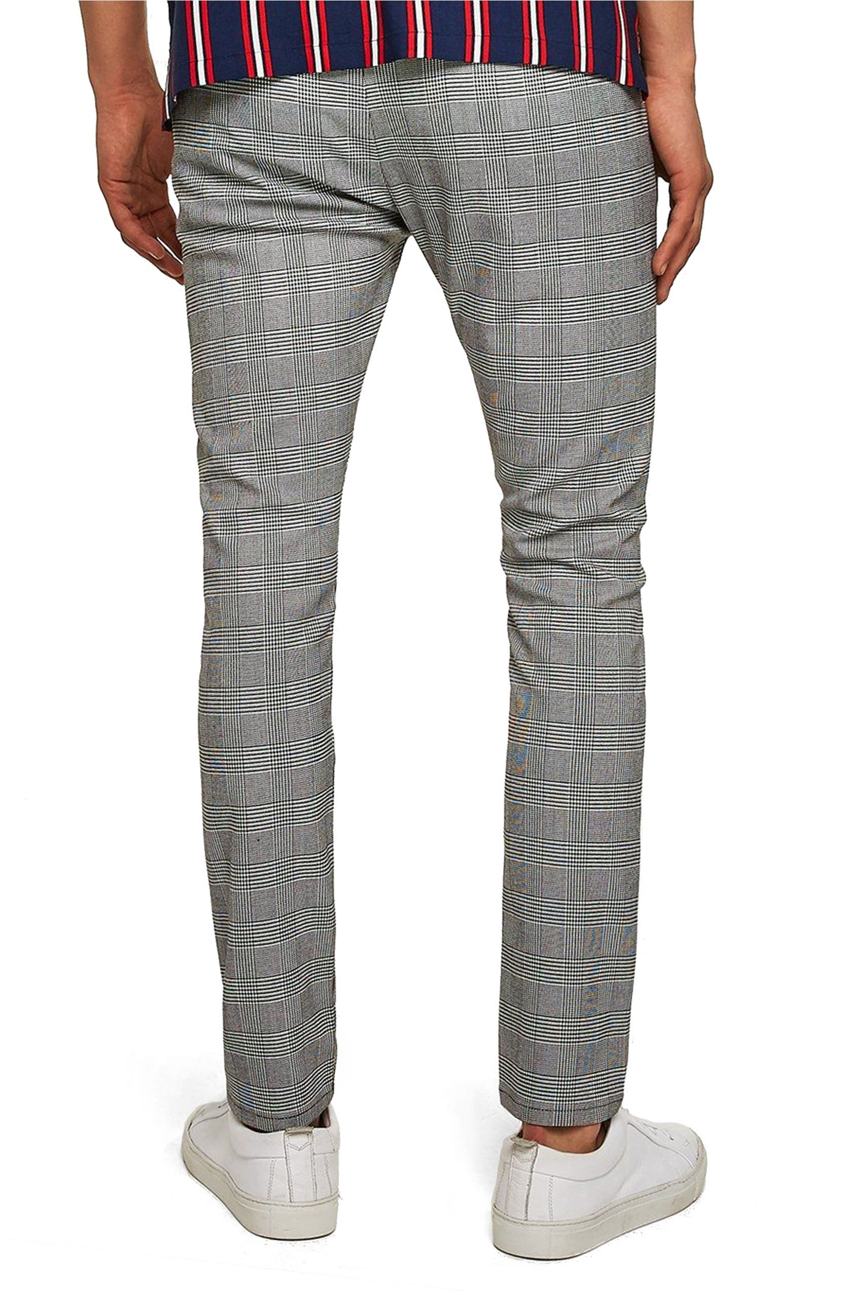 f20c520c11 Topman Check Stretch Skinny Fit Trousers | Nordstrom