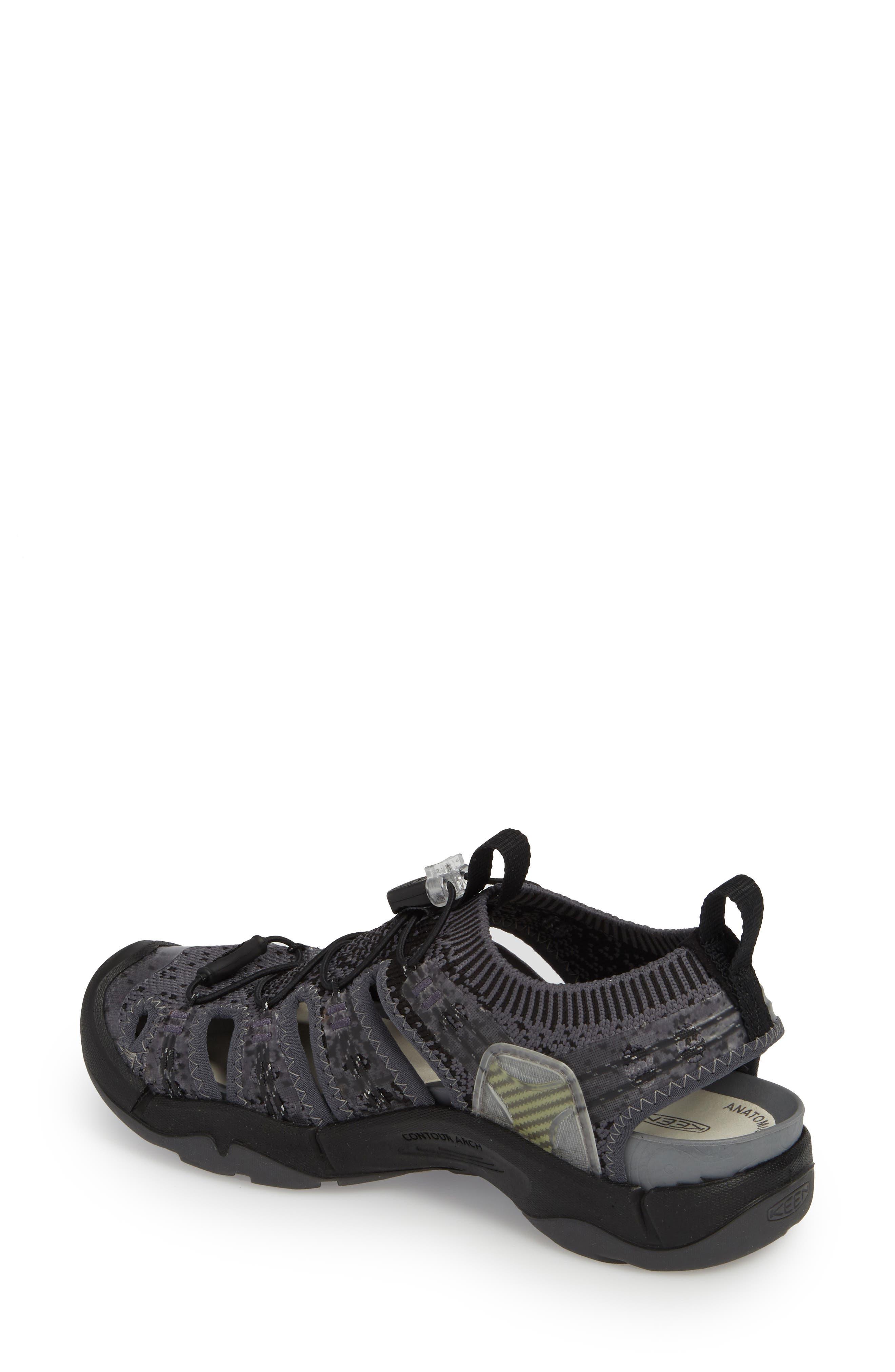 KEEN, EVOFIT One Sandal, Alternate thumbnail 2, color, HEATHERED BLACK/ MAGNET