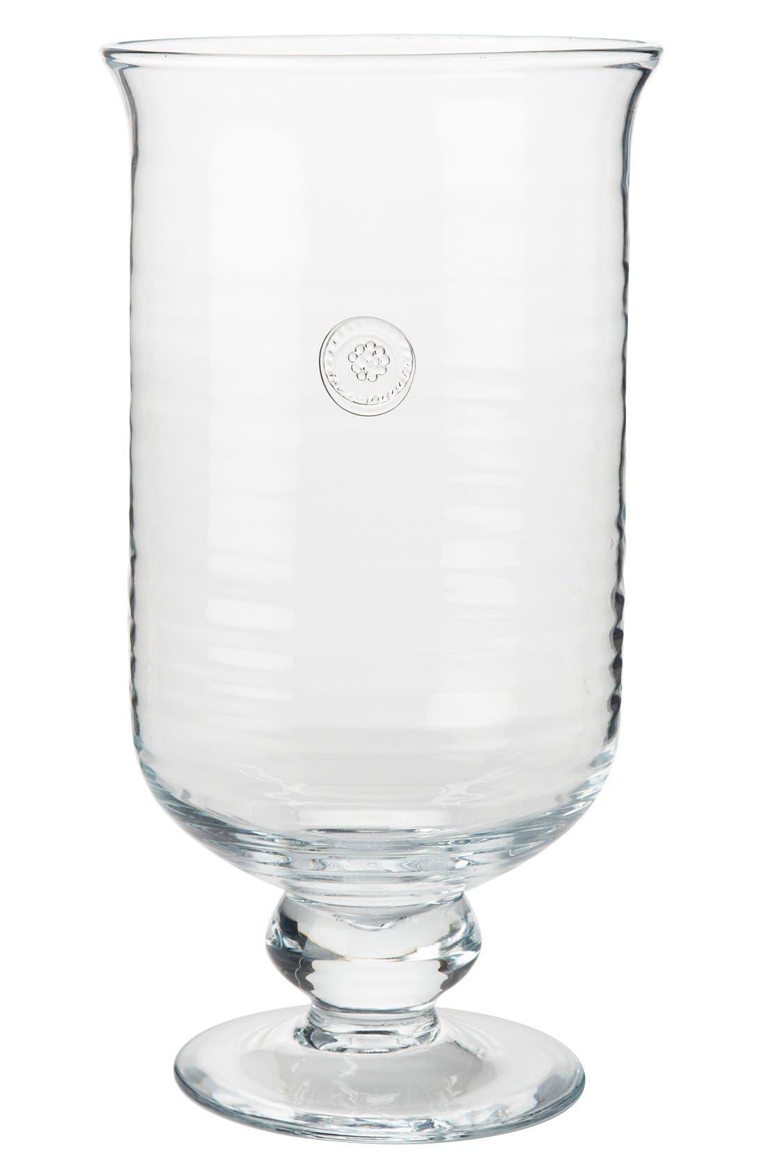 Juliska Berry  Thread Large Hurricane Glass Candleholder Size One Size  White