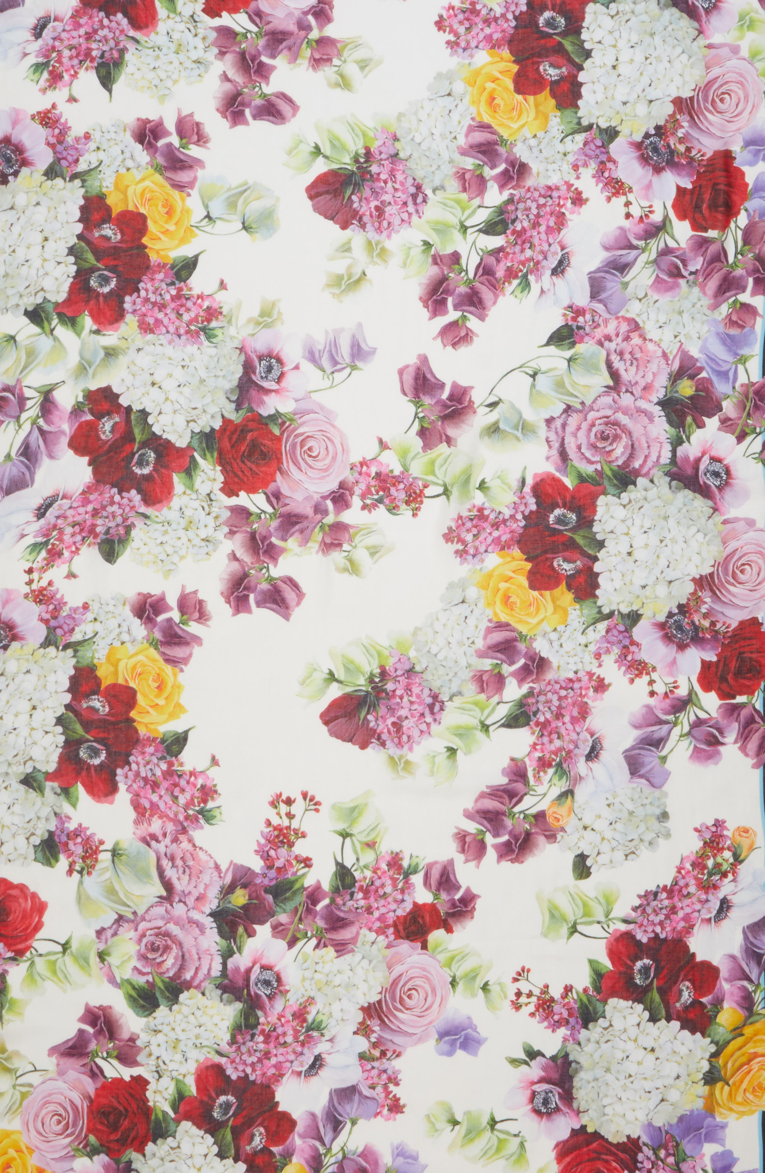 DOLCE&GABBANA, Floral Print Modal & Cashmere Scarf, Alternate thumbnail 4, color, PINK FLORAL