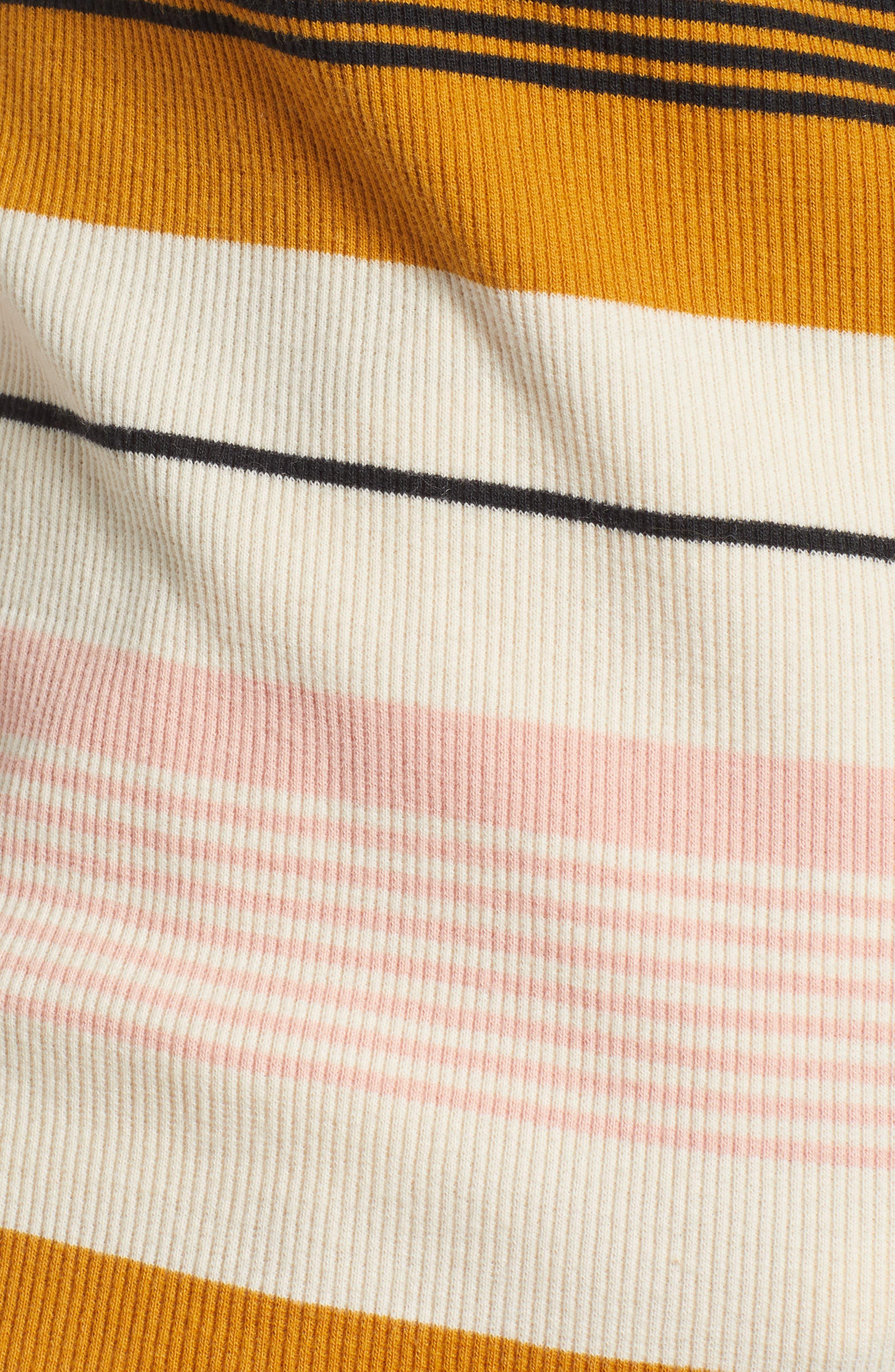 BILLABONG, Wrap City Stripe Wrap Top, Alternate thumbnail 5, color, 100