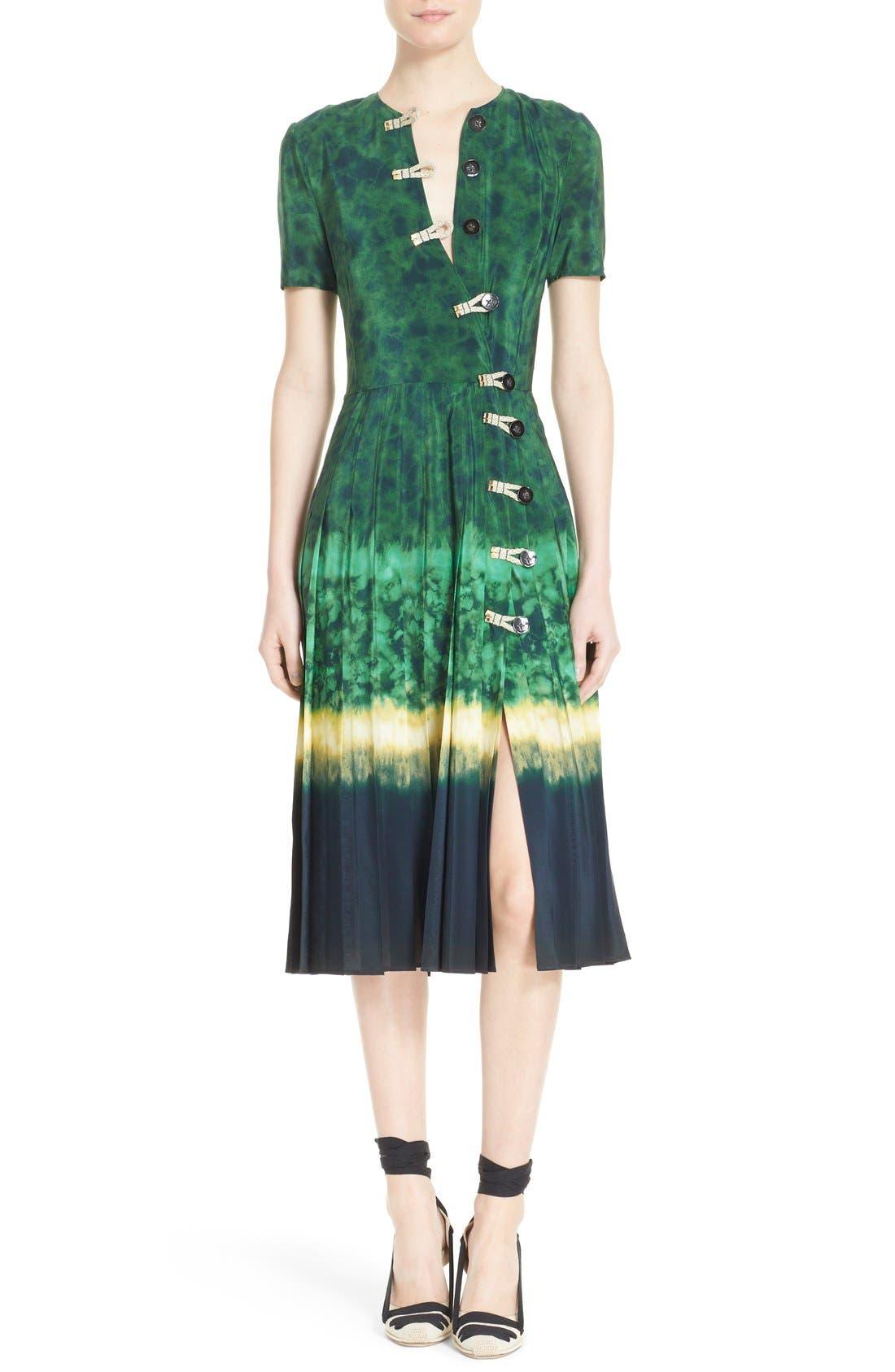 ALTUZARRA, 'Ilari' Rope Closure Dip Dye Dress, Alternate thumbnail 4, color, 340