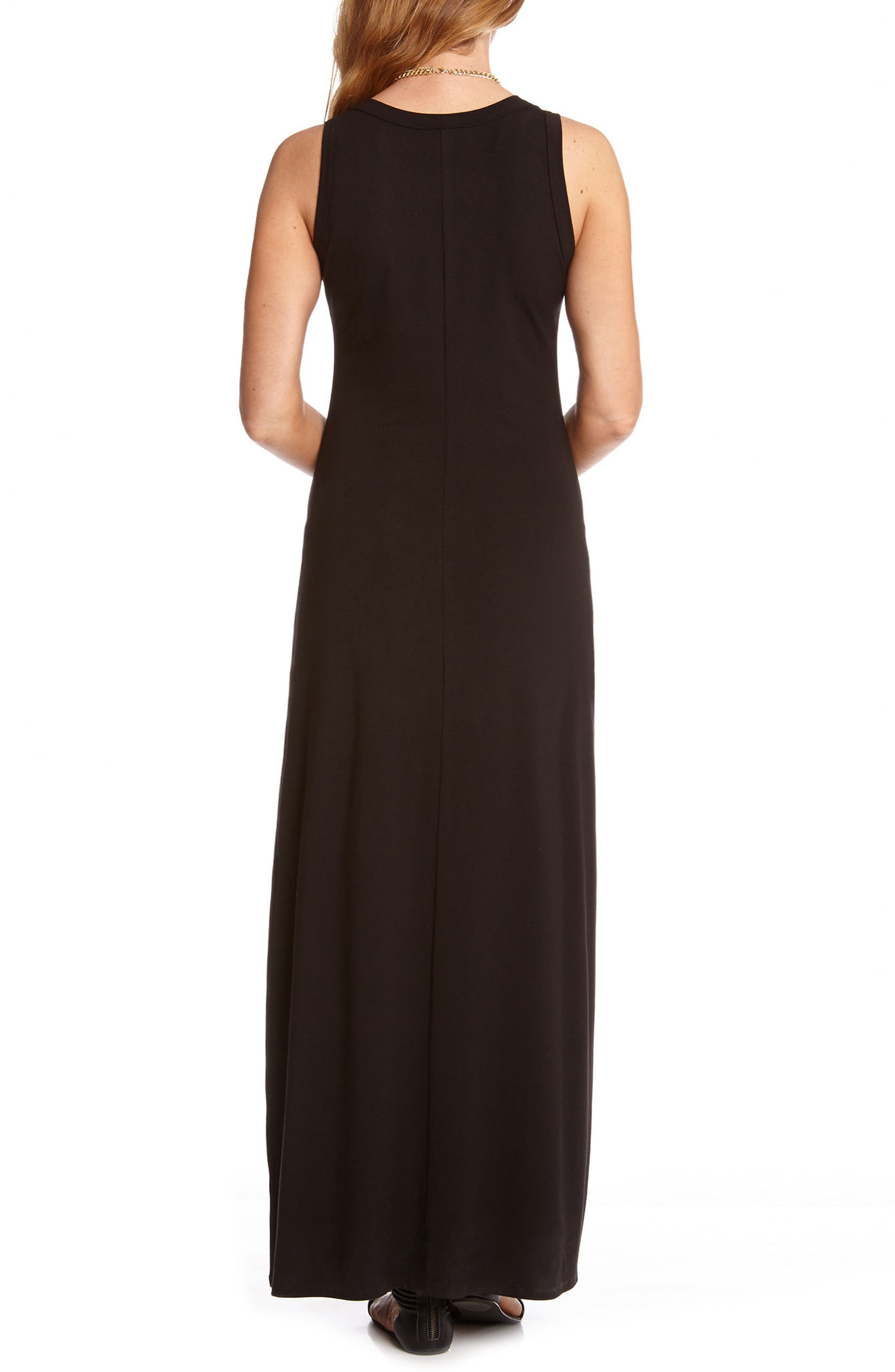 KAREN KANE, Maxi Tank Dress, Alternate thumbnail 2, color, BLACK