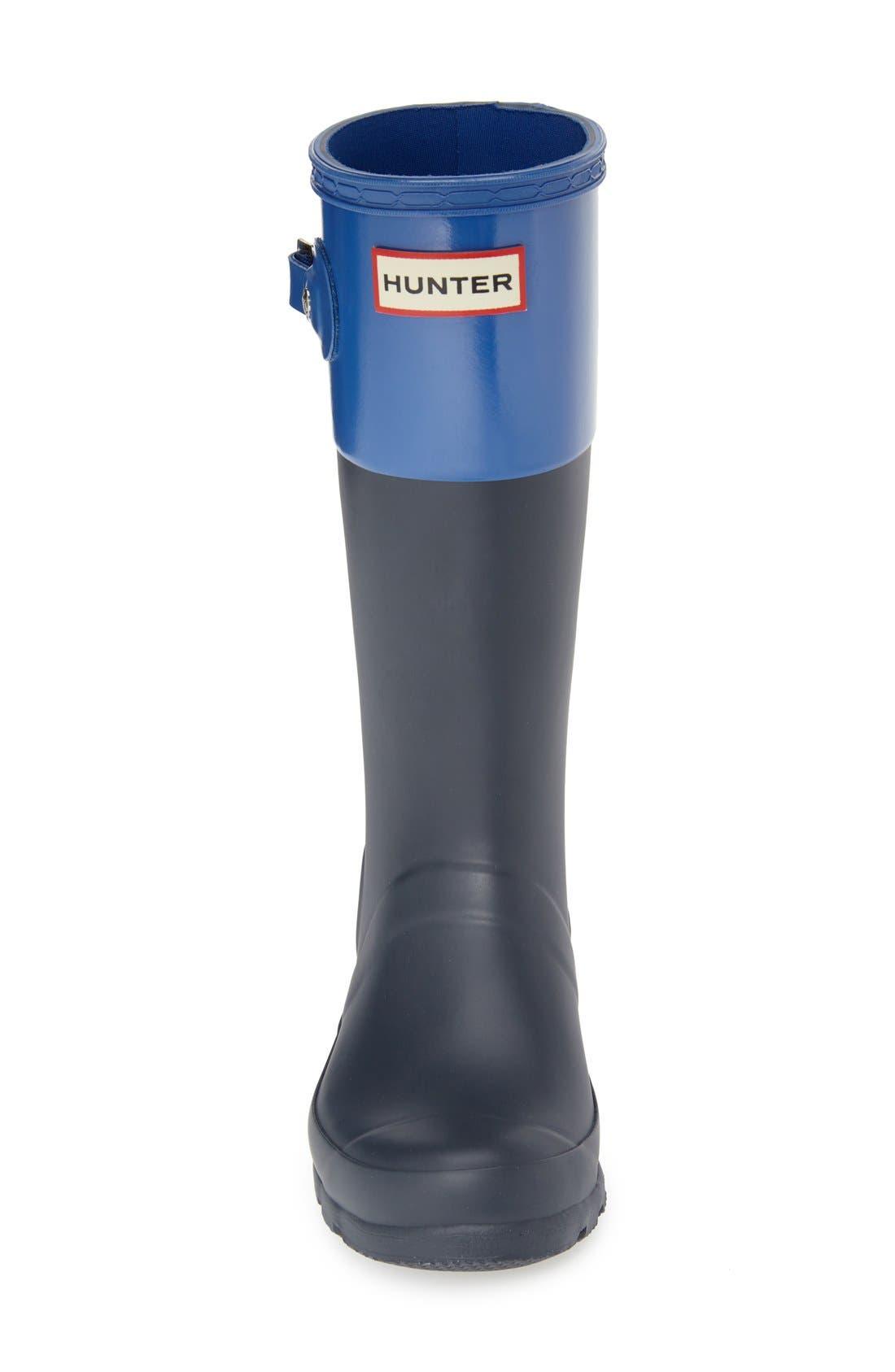 HUNTER, 'Original Tonal' Rain Boot, Alternate thumbnail 3, color, 410
