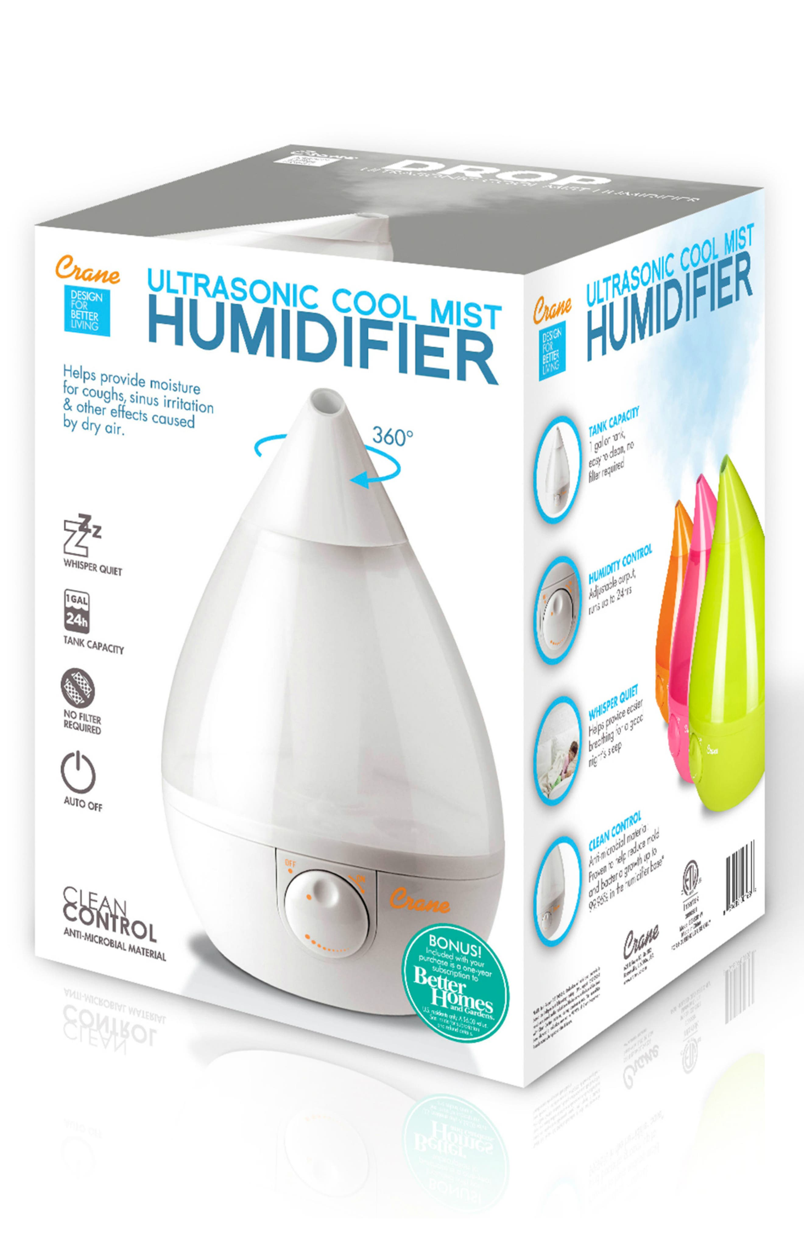 CRANE AIR, 'Drop' Humidifier, Alternate thumbnail 2, color, WHITE