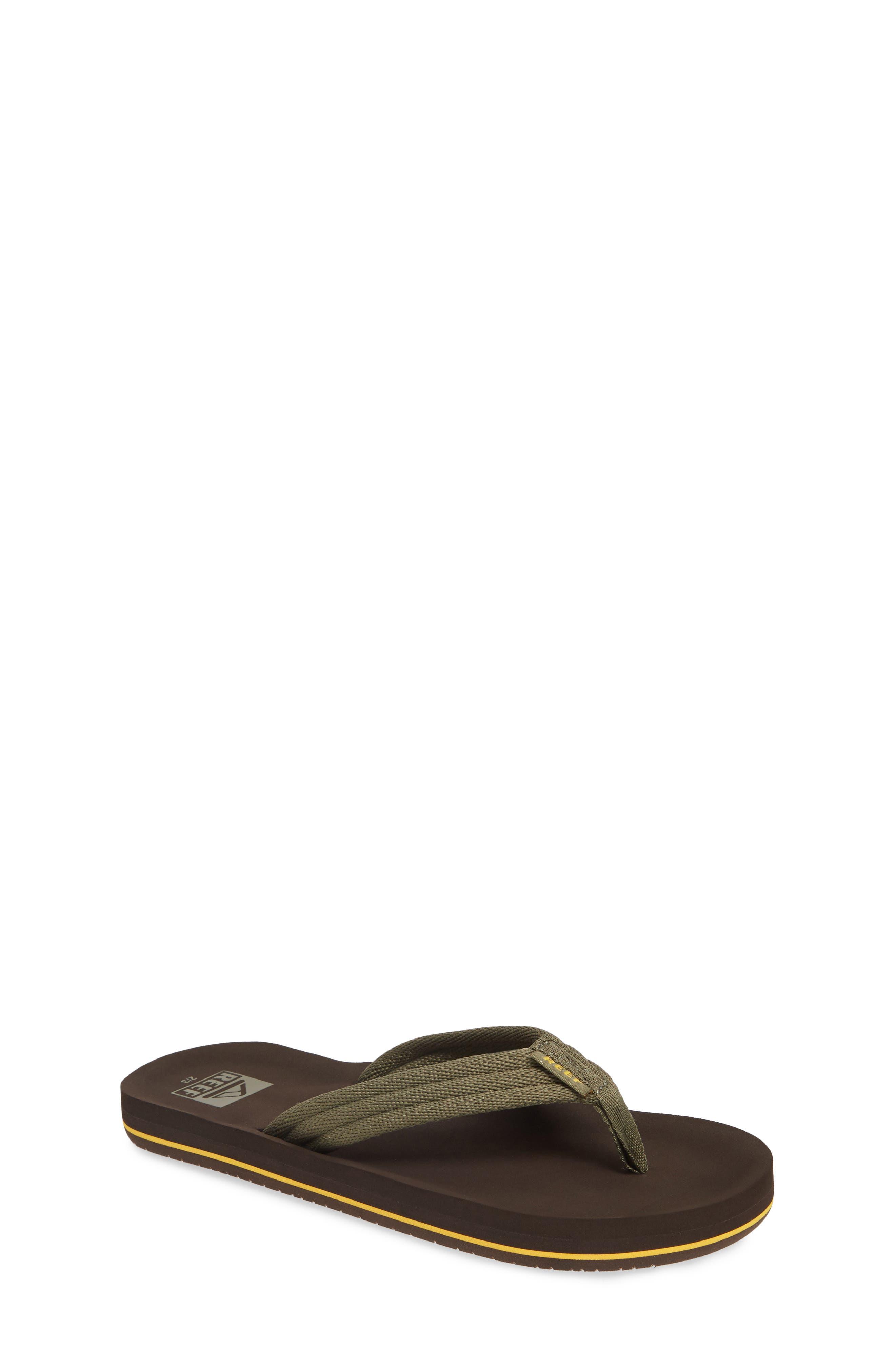 REEF Ahi Beach Flip Flop, Main, color, BROWN/ OLIVE