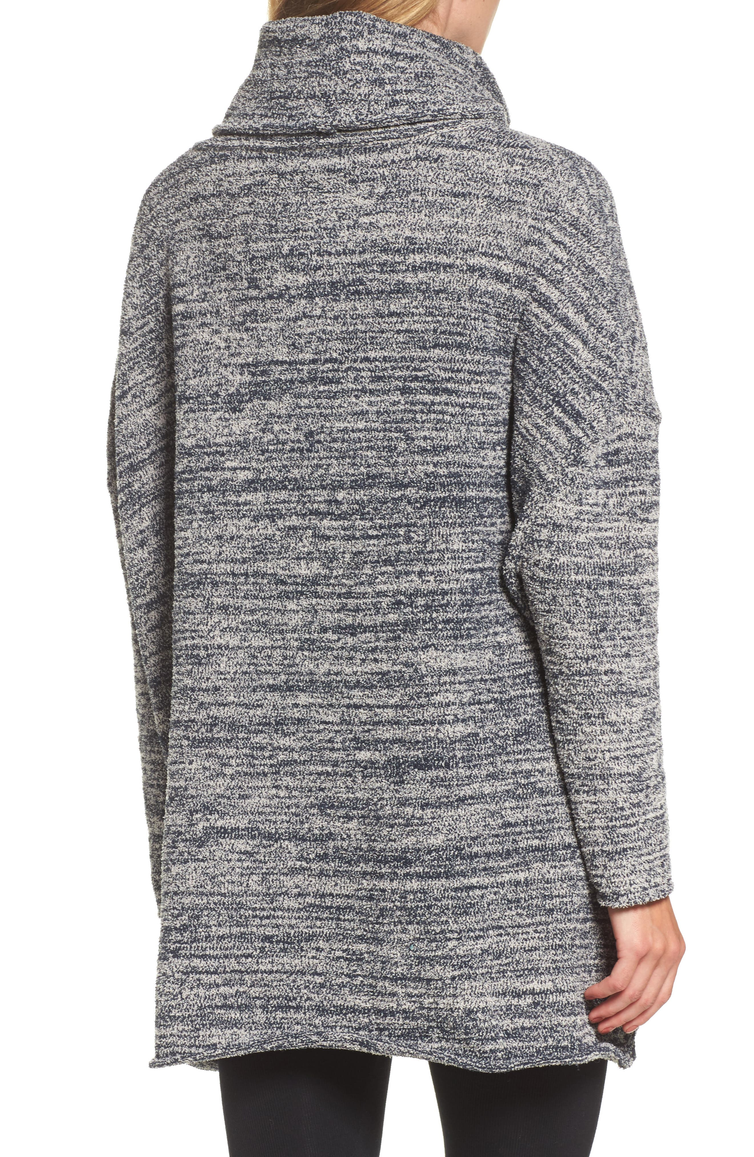 BAREFOOT DREAMS<SUP>®</SUP>, Cozychic<sup>®</sup> Lounge Pullover, Alternate thumbnail 2, color, INDIGO/ STONE HEATHERED