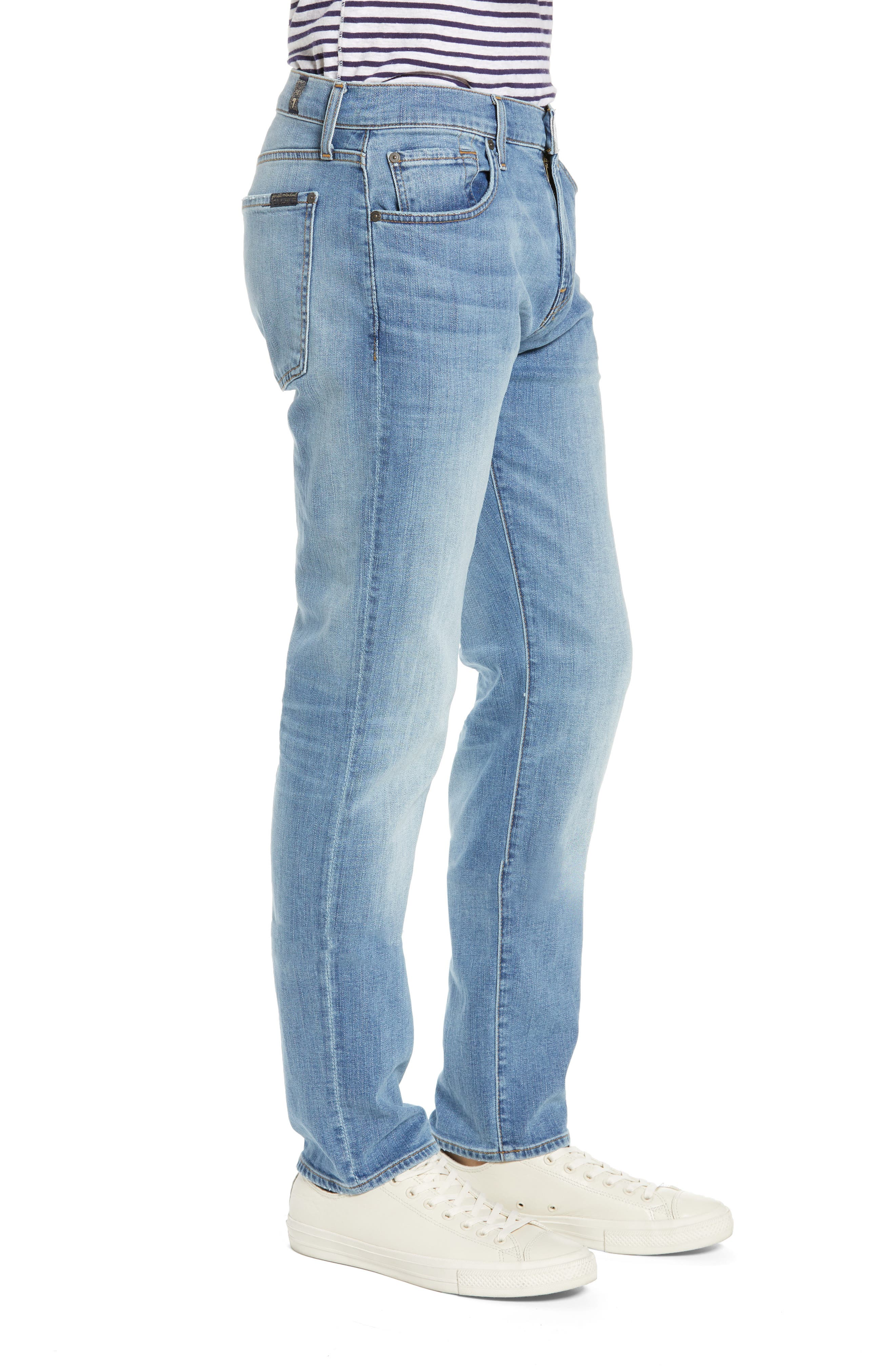 7 FOR ALL MANKIND<SUP>®</SUP>, Adrien Luxe Performance Slim Fit Jeans, Alternate thumbnail 4, color, ZEITGEIST