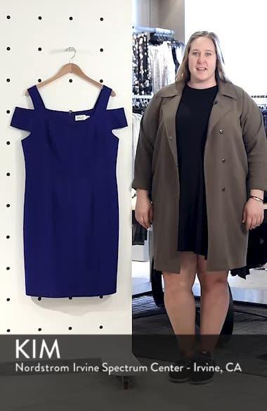 Cold Shoulder Crepe Sheath Cocktail Dress, sales video thumbnail