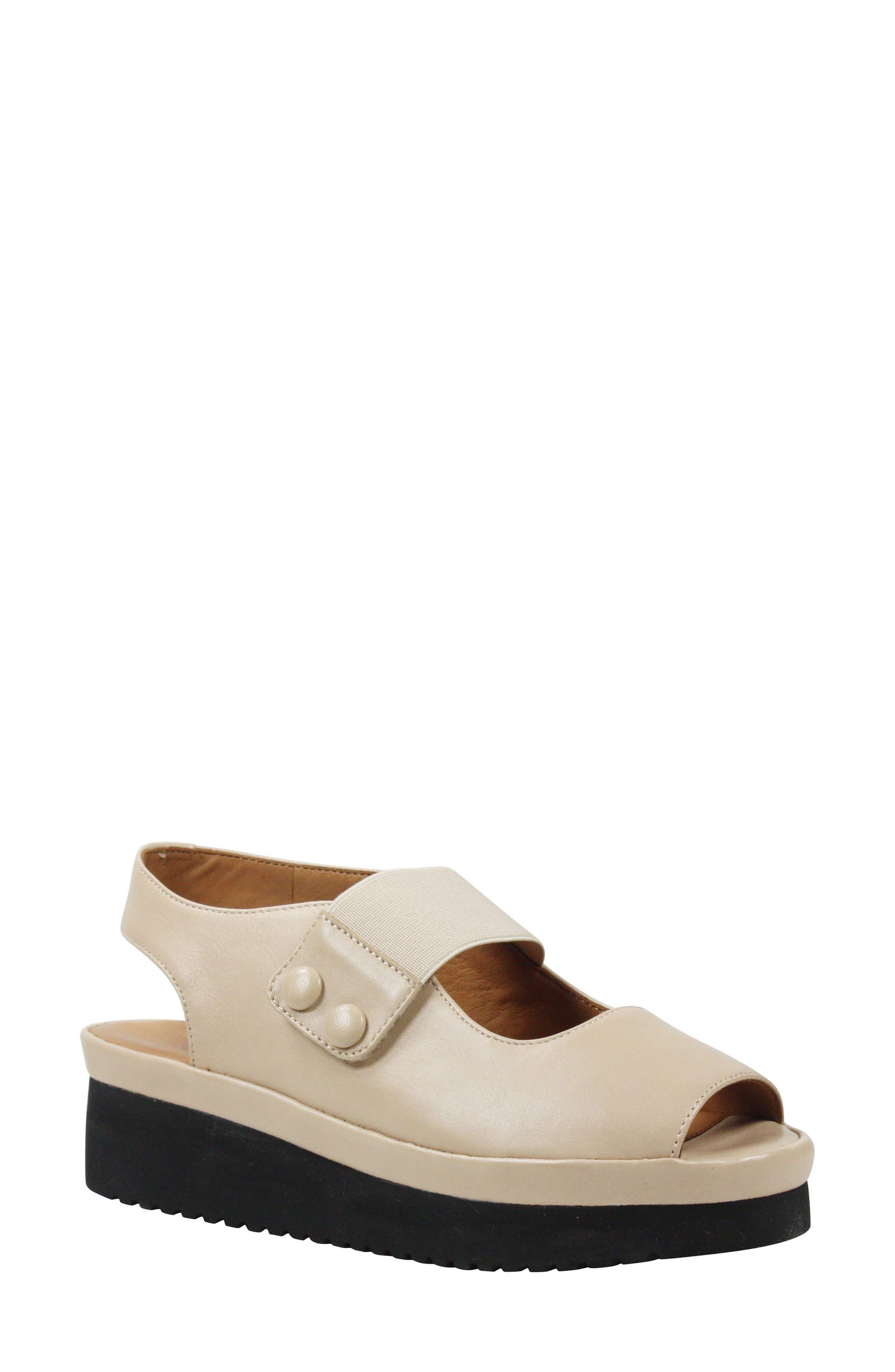 L'AMOUR DES PIEDS Adalicia Platform Sandal, Main, color, NUDE LEATHER