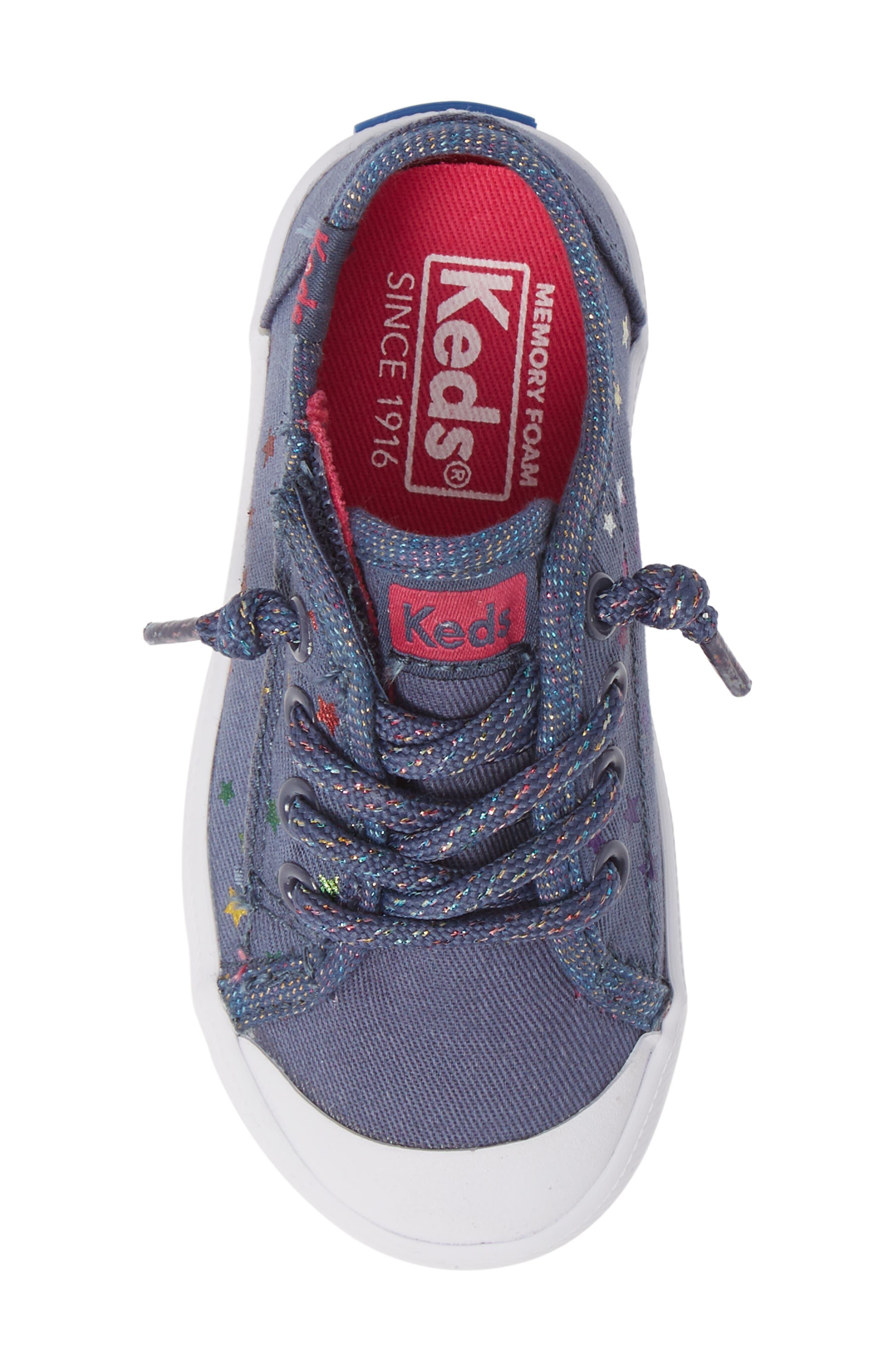 KEDS<SUP>®</SUP>, Kickstart Cap Toe Sneaker, Alternate thumbnail 5, color, STAR PERF