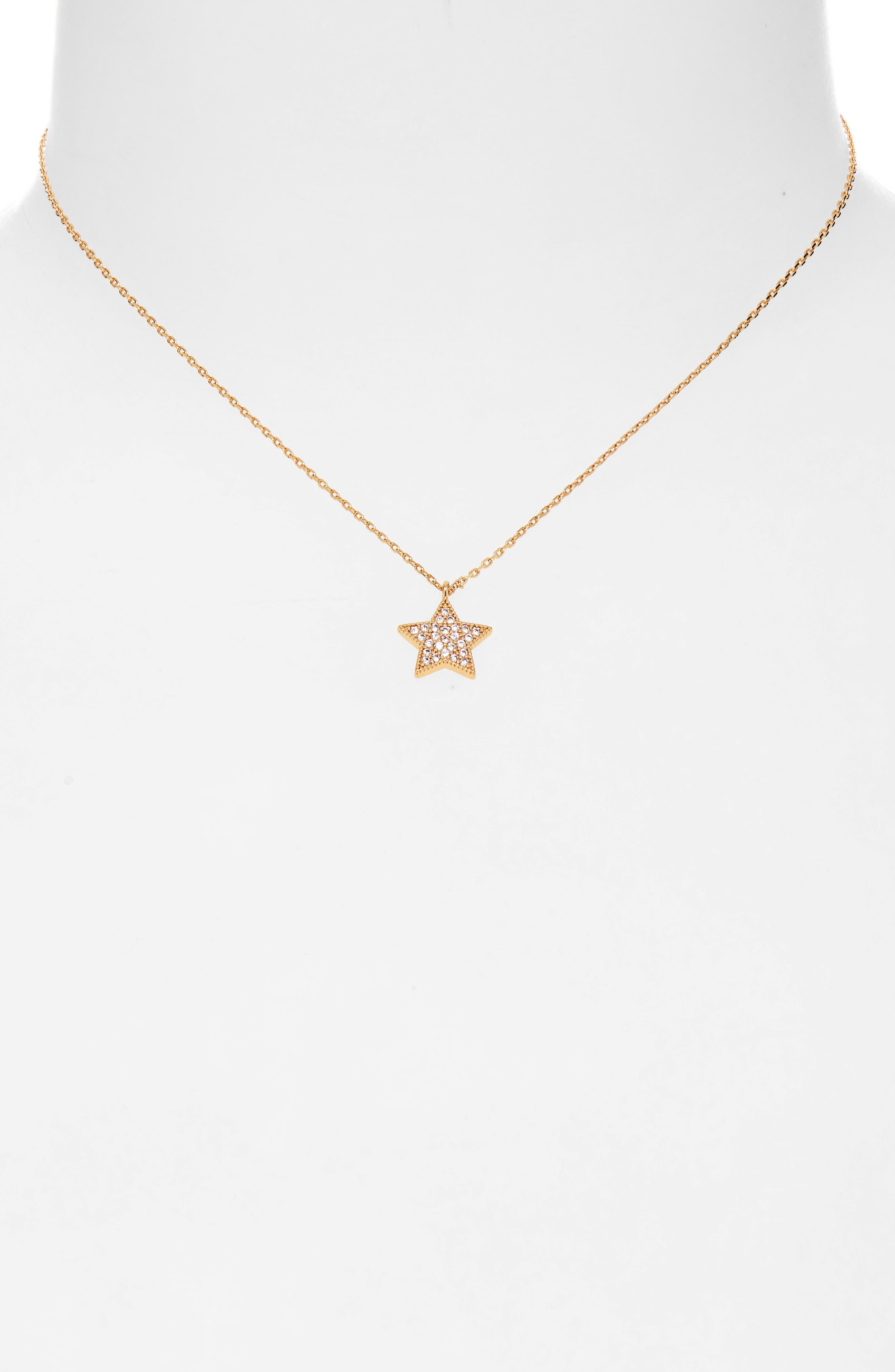 UNCOMMON JAMES BY KRISTIN CAVALLARI, Big Star Pendant Necklace, Alternate thumbnail 2, color, GOLD