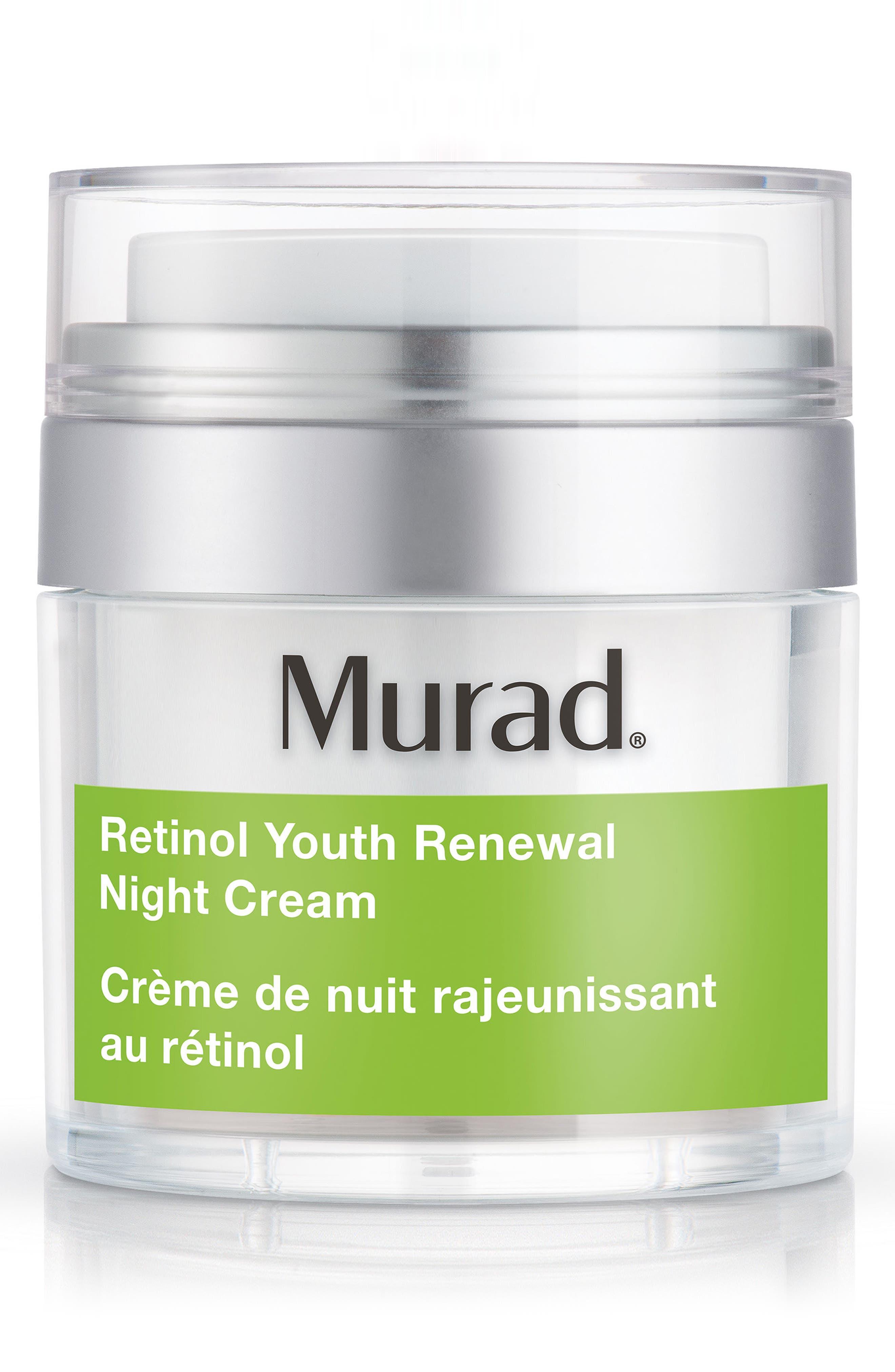 MURAD<SUP>®</SUP>, Retinol Youth Renewal Night Cream, Main thumbnail 1, color, NO COLOR