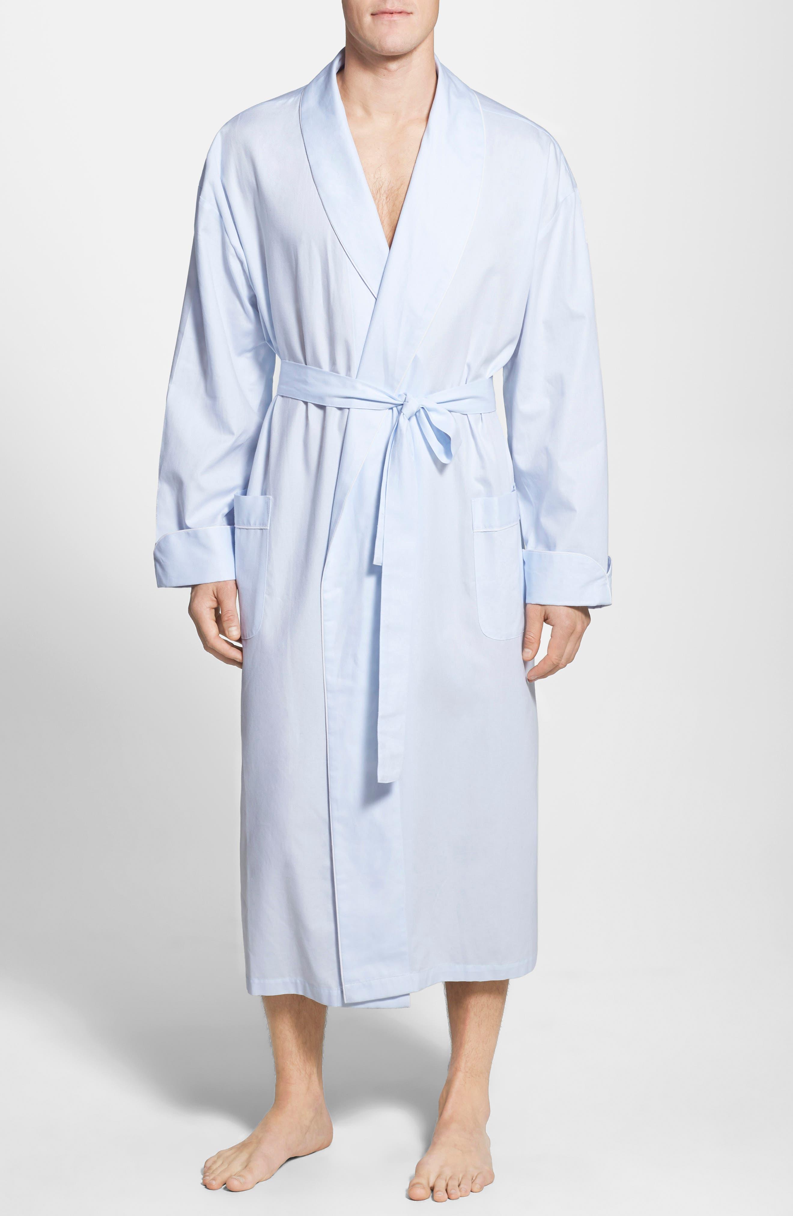 MAJESTIC INTERNATIONAL, 'Signature' Cotton Robe, Alternate thumbnail 2, color, SURF