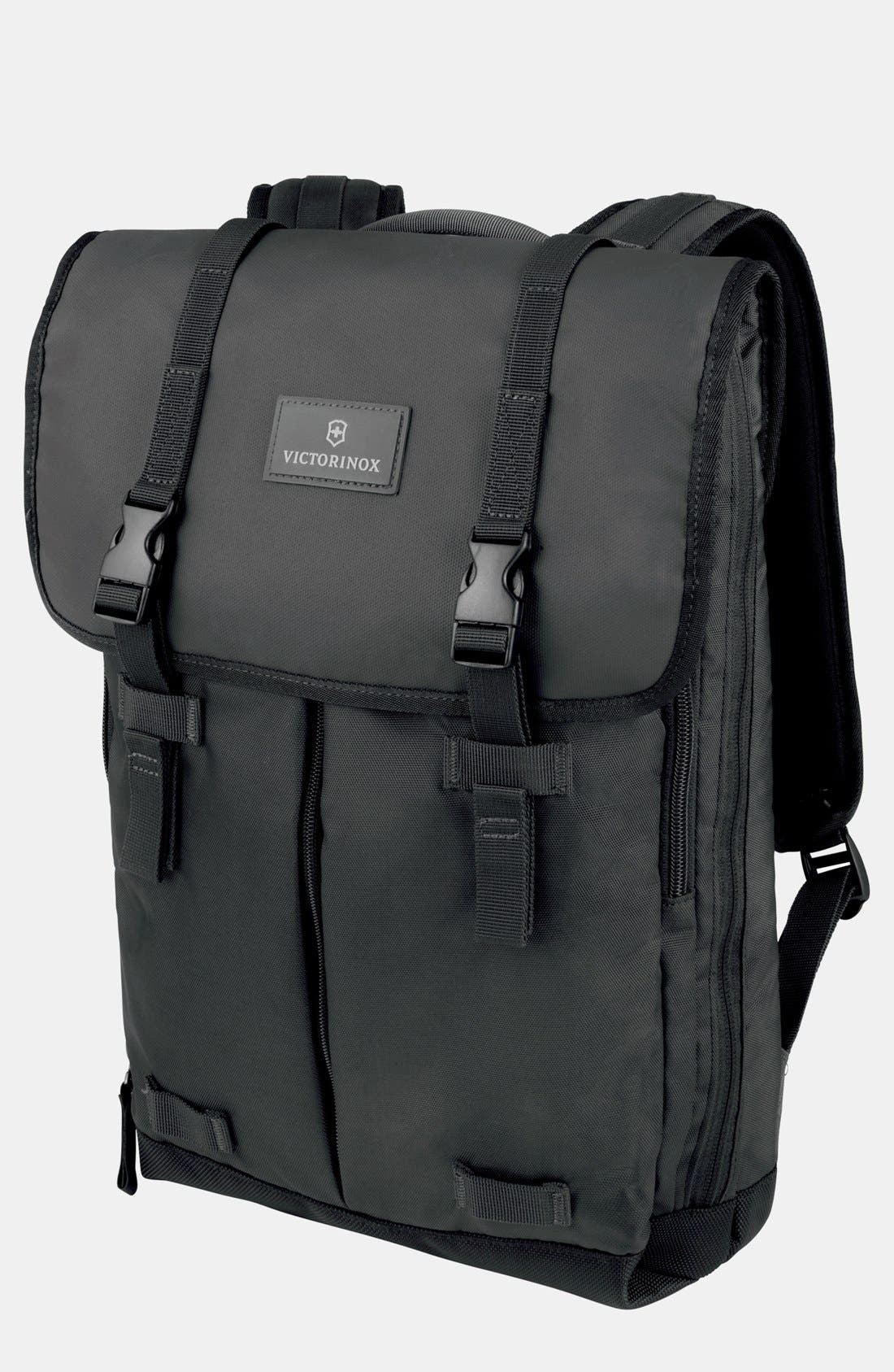 VICTORINOX SWISS ARMY<SUP>®</SUP>, Altmont Backpack, Main thumbnail 1, color, BLACK