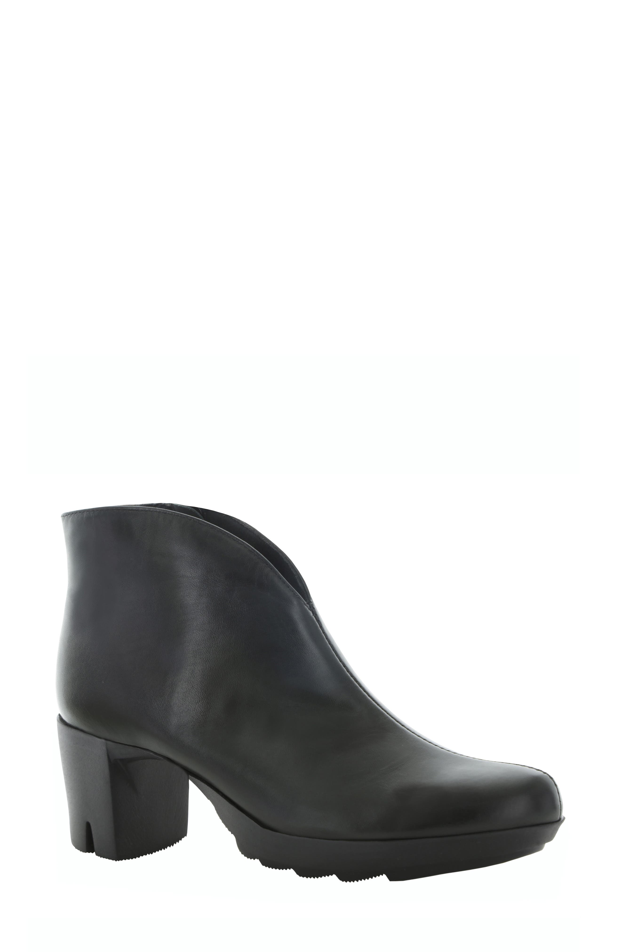 MUNRO, Robynette Bootie, Main thumbnail 1, color, BLACK LEATHER