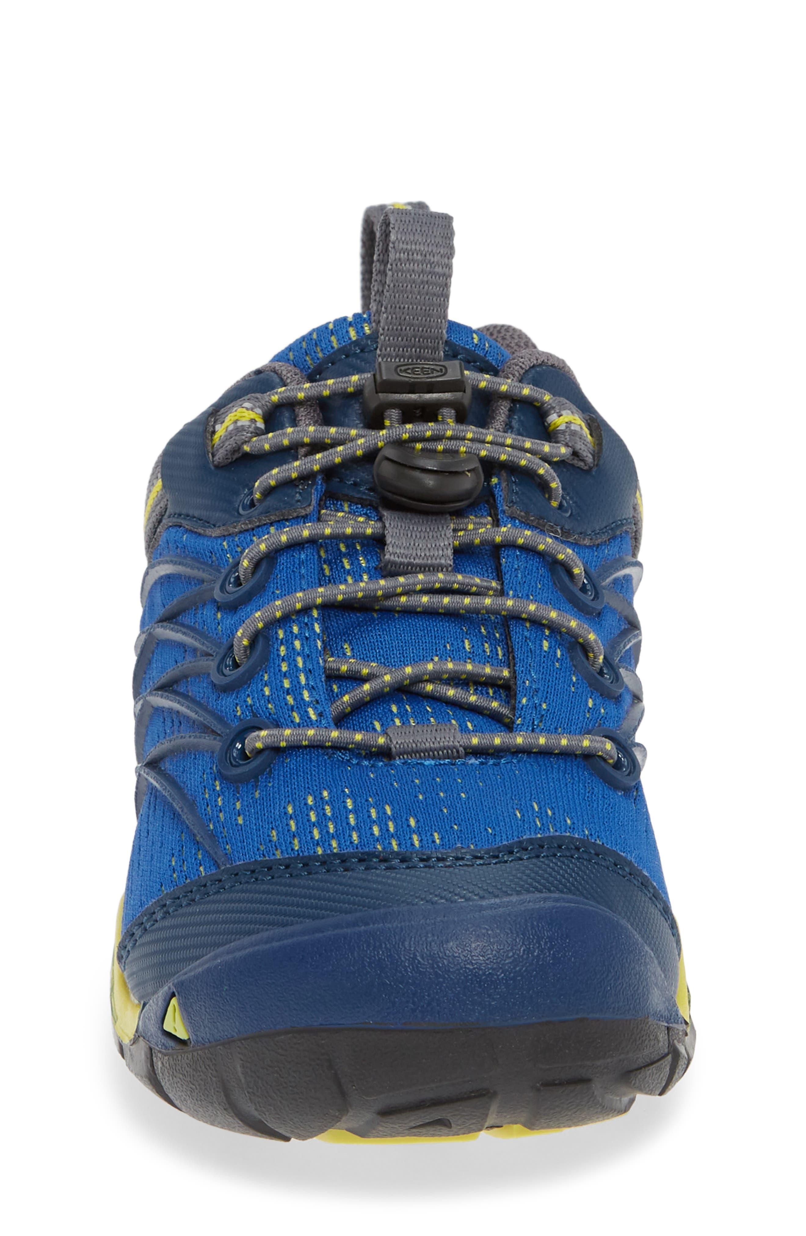 KEEN, 'Chandler CNX' Water Friendly Sneaker, Alternate thumbnail 4, color, BLUE OPAL/ BLUE