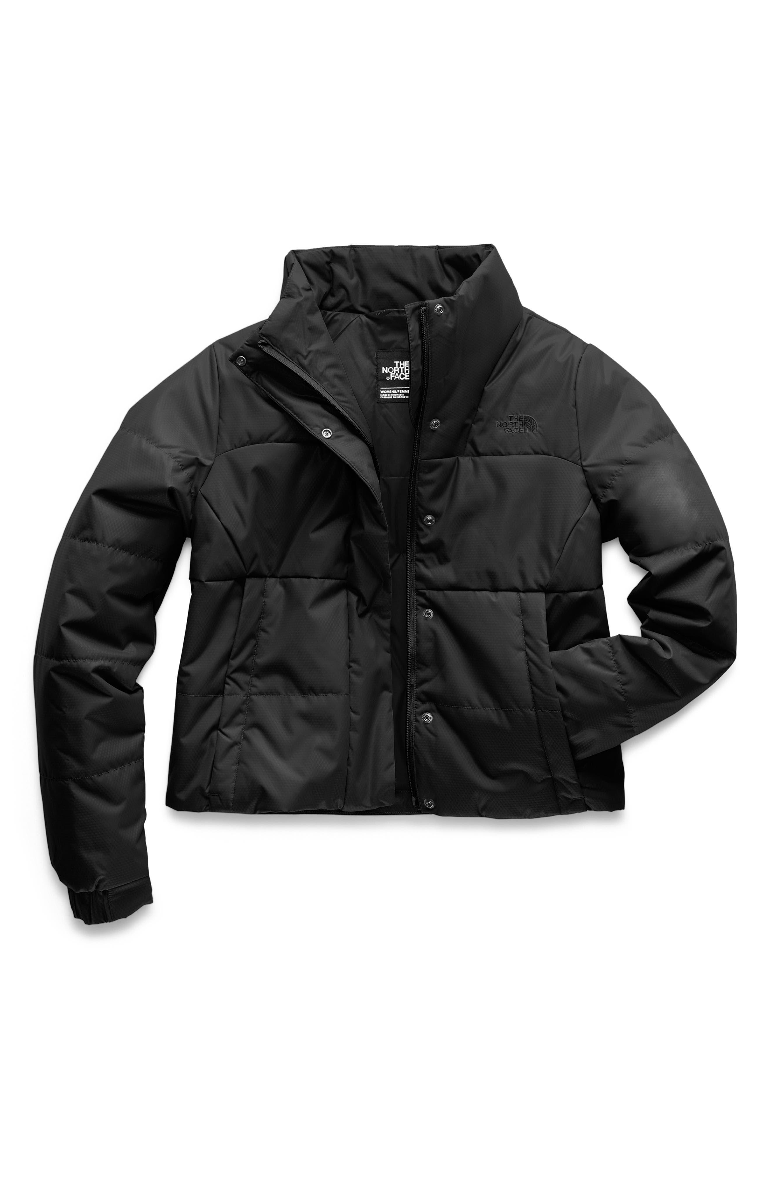 THE NORTH FACE, Femtastic Heatseeker Insulated Jacket, Alternate thumbnail 8, color, TNF BLACK
