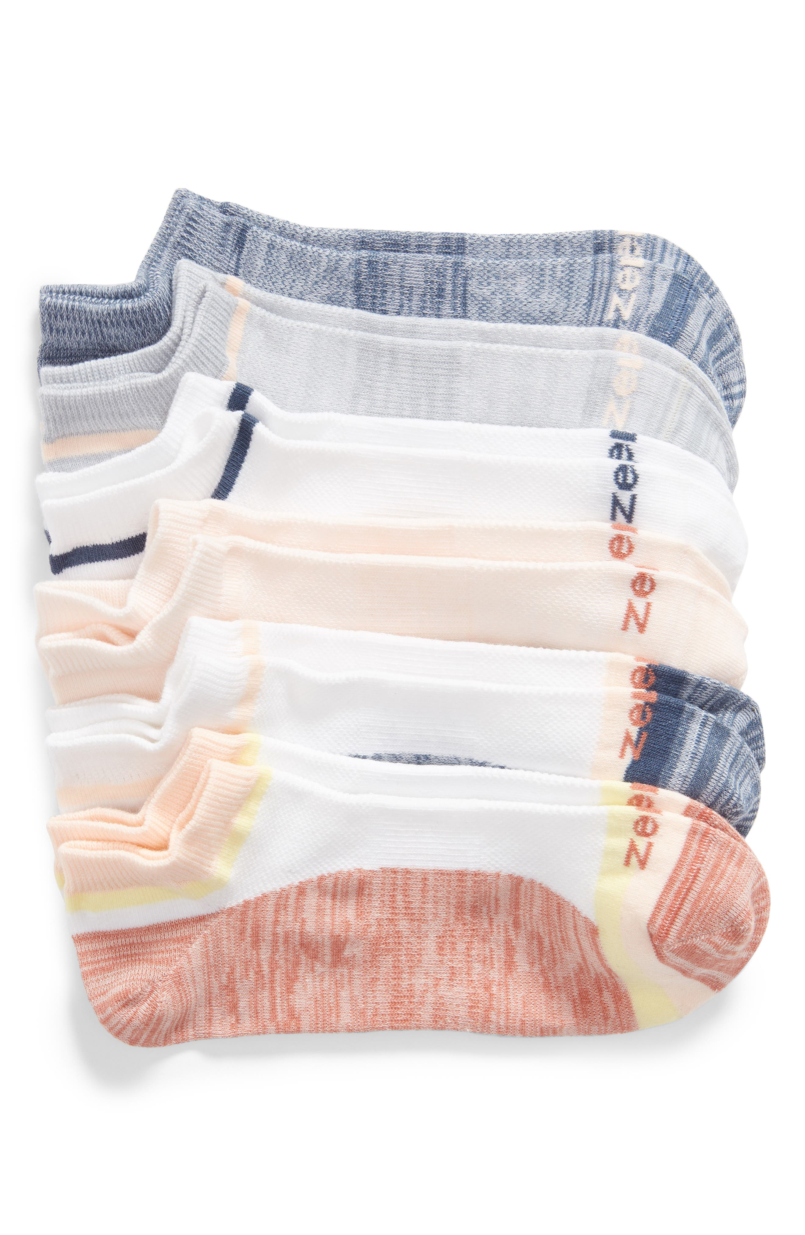 ZELLA 6-Pack Liner Socks, Main, color, PINK CANYON