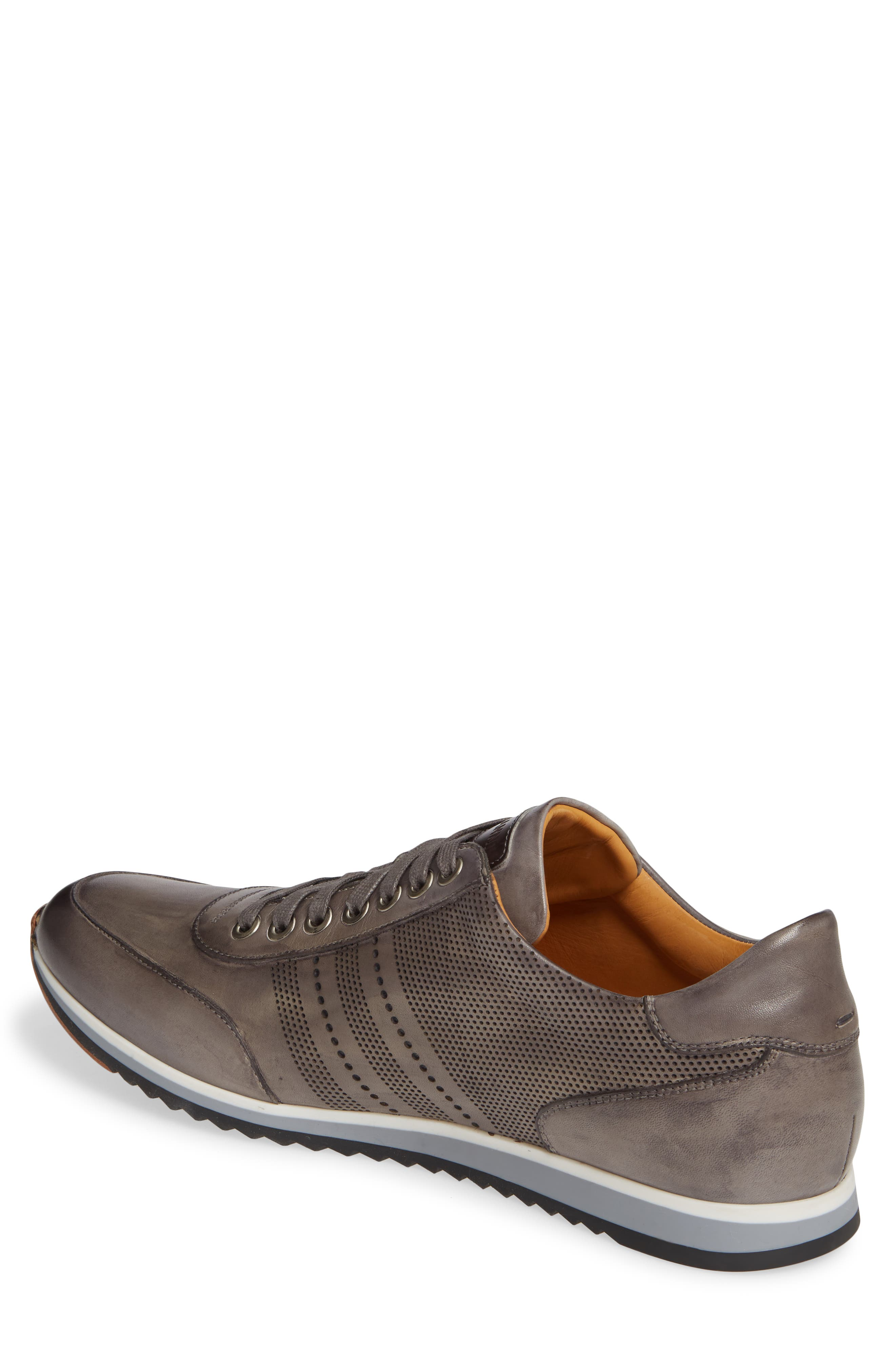 MAGNANNI, Merino Sneaker, Alternate thumbnail 2, color, GREY LEATHER