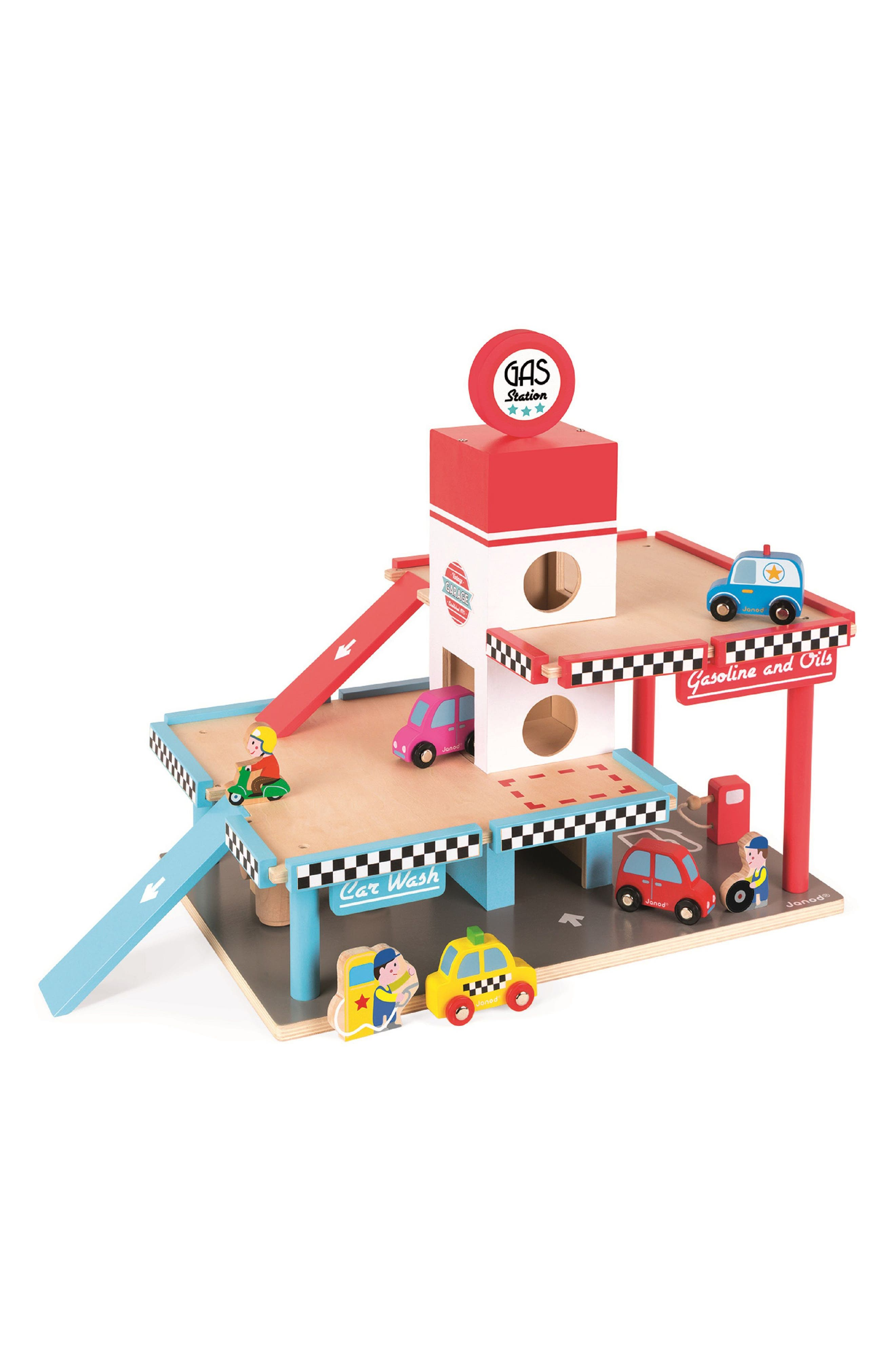 JANOD Gas Station Play Set, Main, color, 600