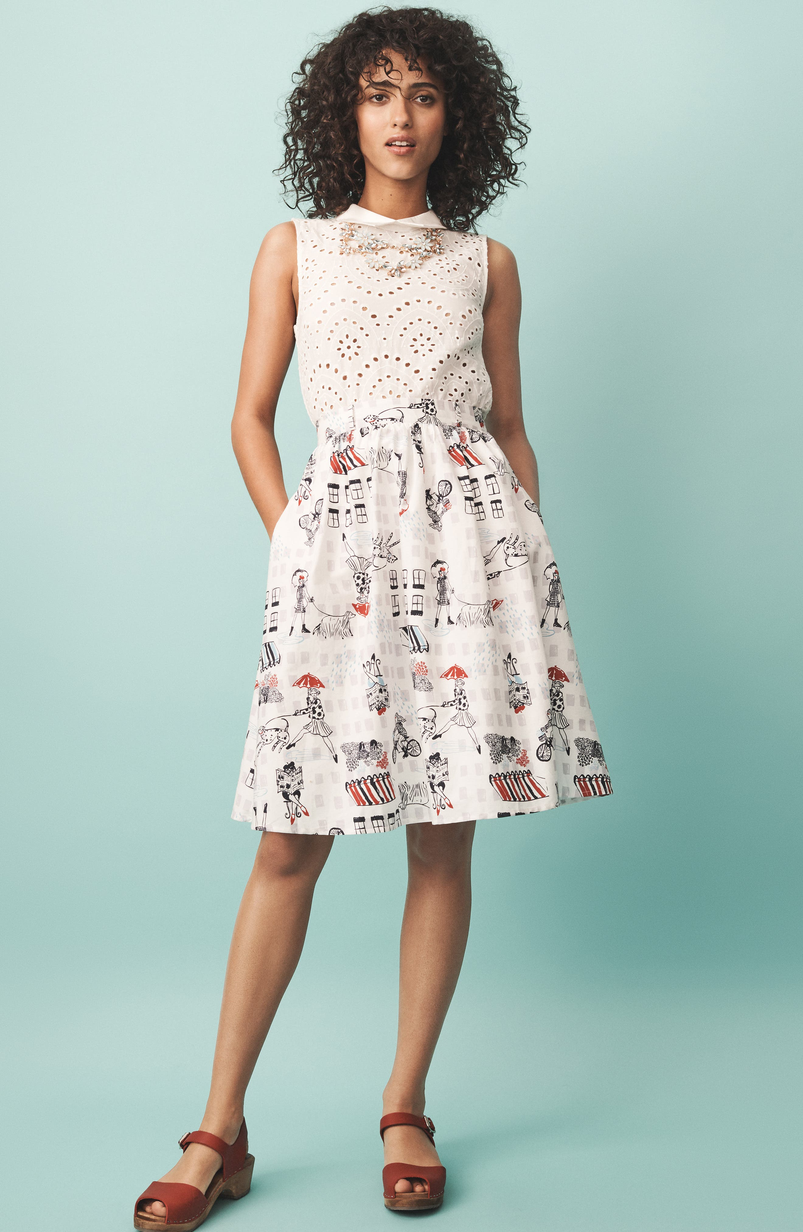 MODCLOTH, Eyelet in the Sun Top, Alternate thumbnail 8, color, WHITE