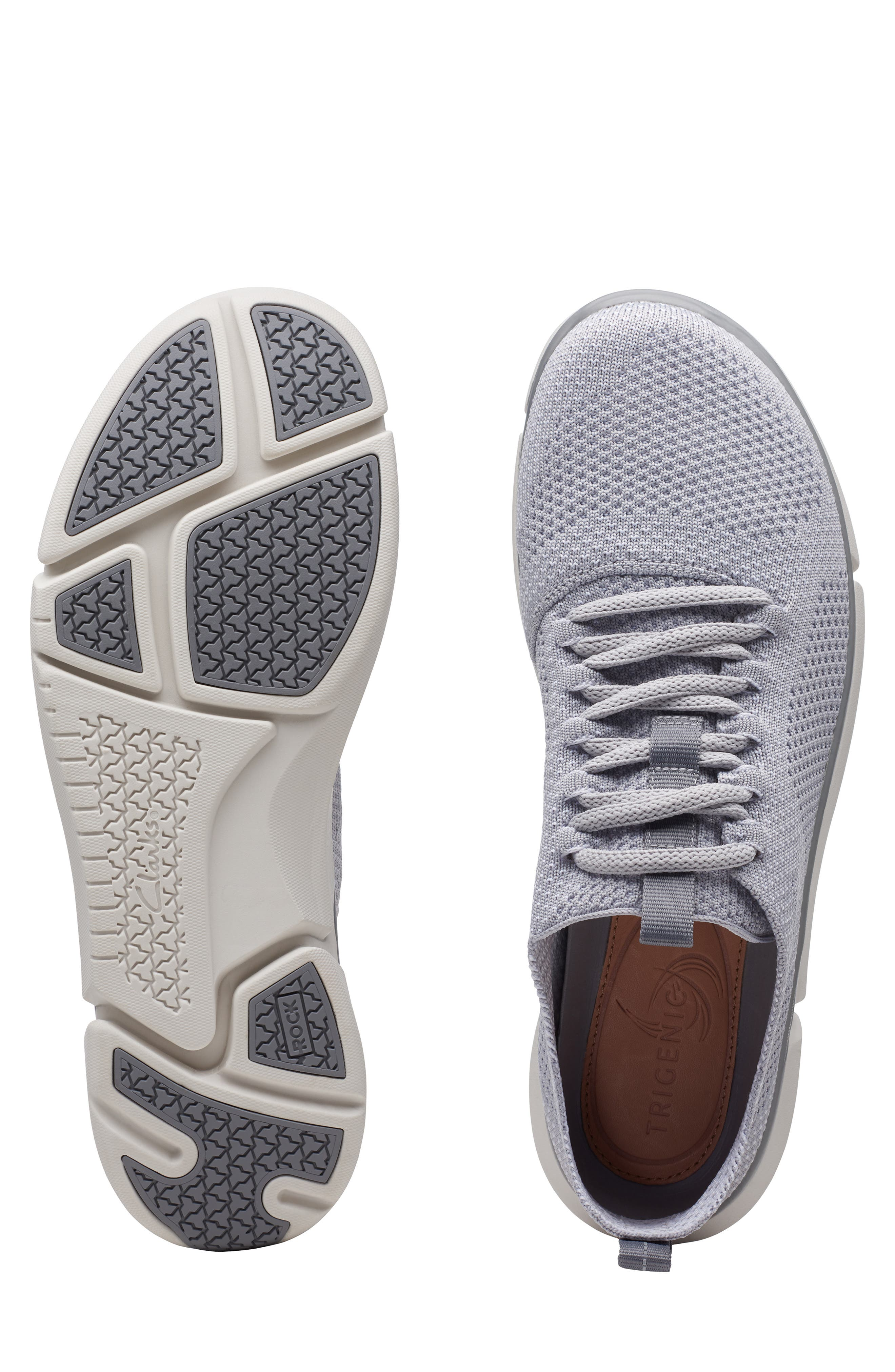 CLARKS<SUP>®</SUP>, Triken Run Sneaker, Alternate thumbnail 7, color, GREY