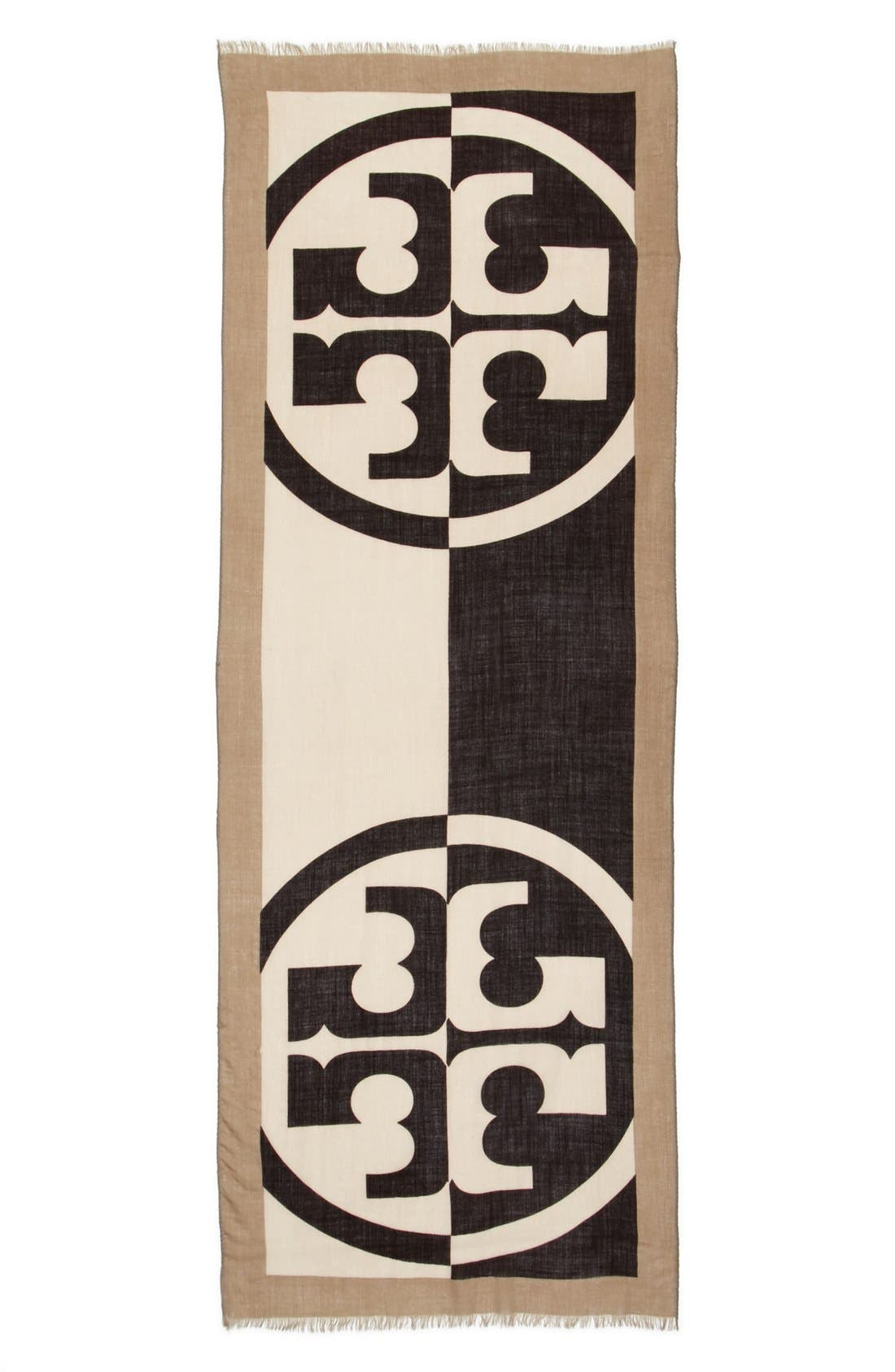 TORY BURCH, 'Reva' Wool Scarf, Alternate thumbnail 2, color, 200