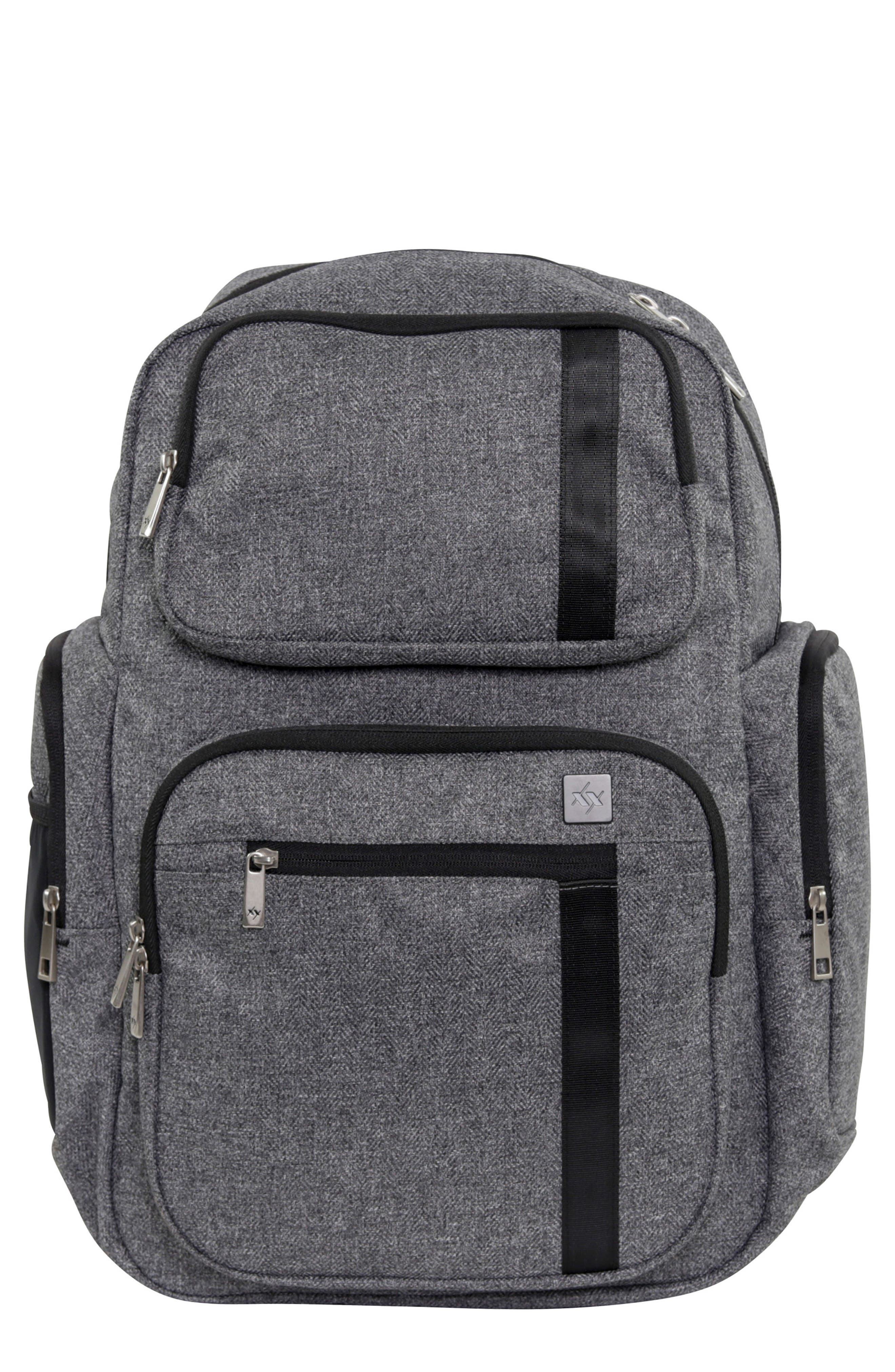 JU-JU-BE XY Vector Diaper Backpack, Main, color, GRAY MATTER