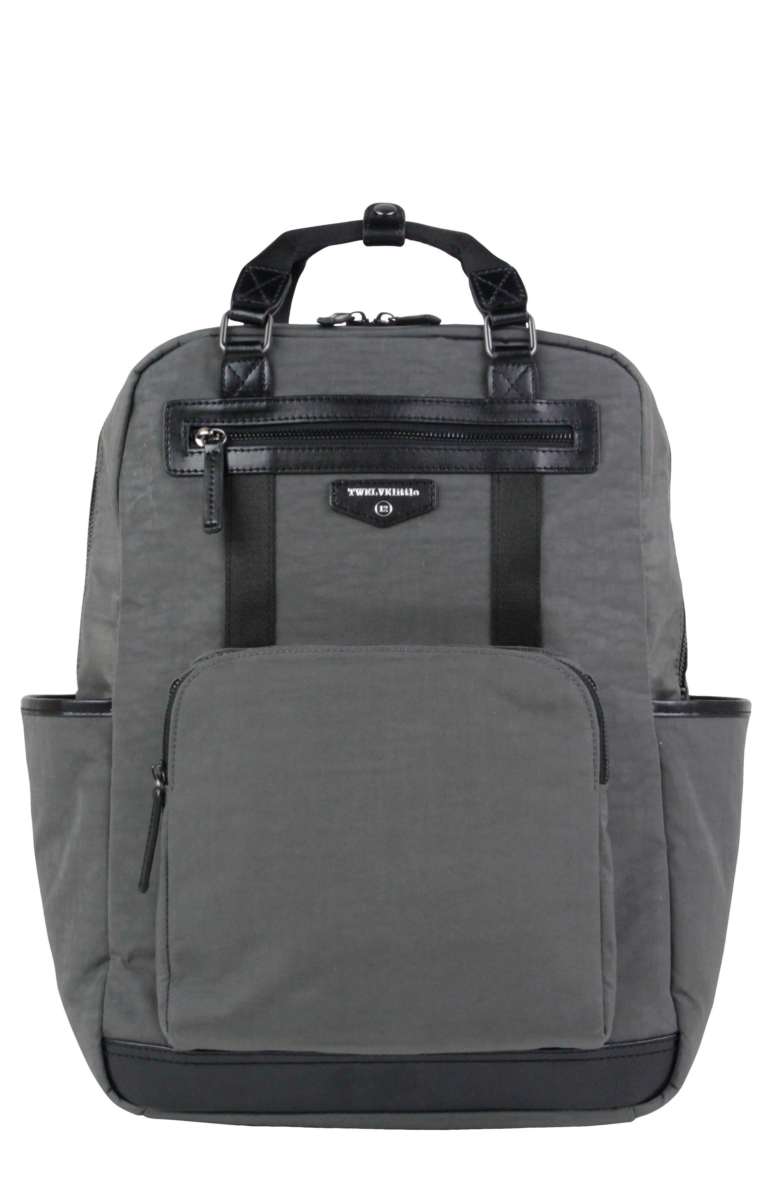 TWELVELITTLE 'Courage' Unisex Backpack Diaper Bag, Main, color, DARK GREY