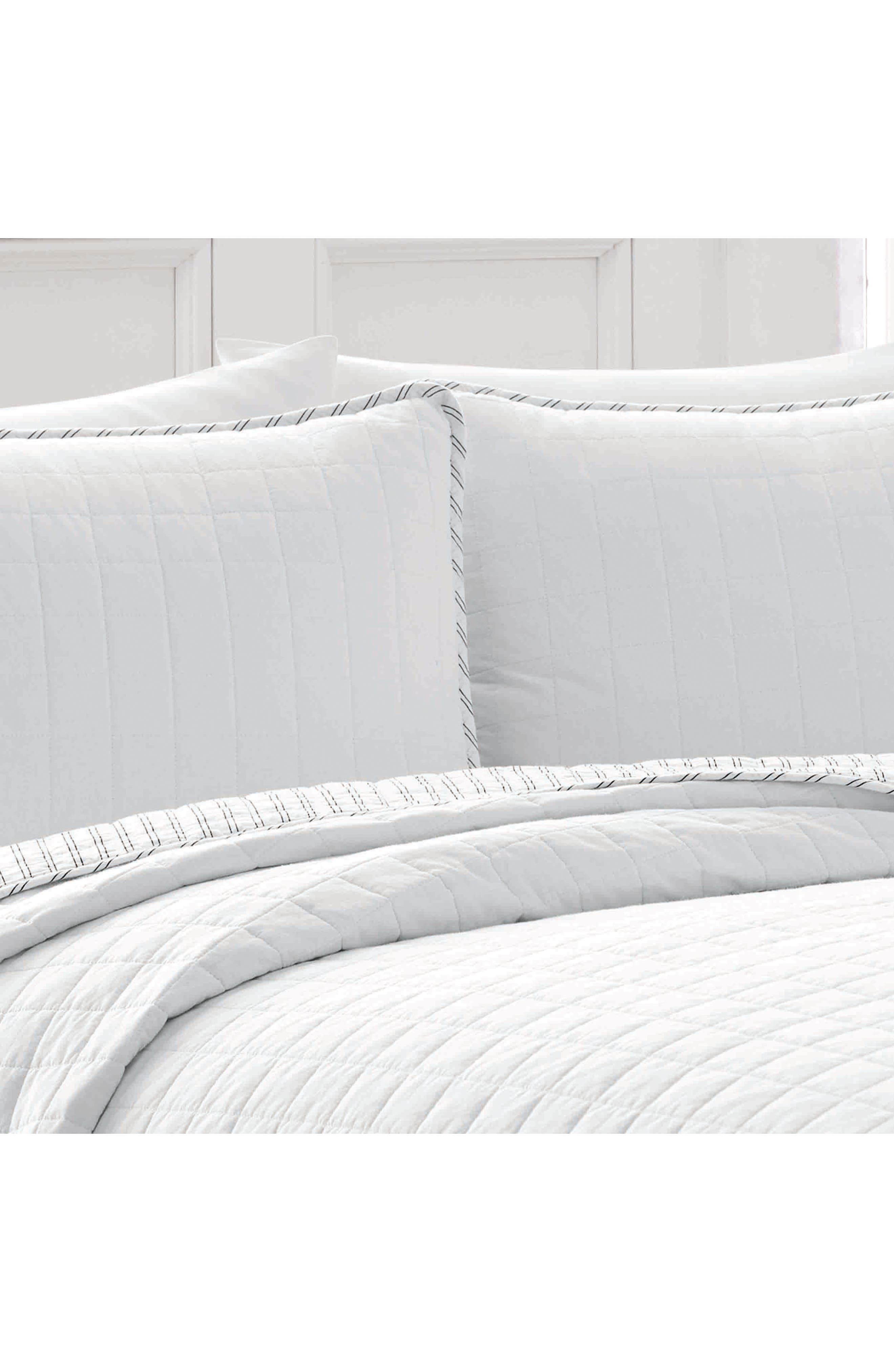 NAUTICA, Maywood Quilt & Sham Set, Alternate thumbnail 3, color, WHITE