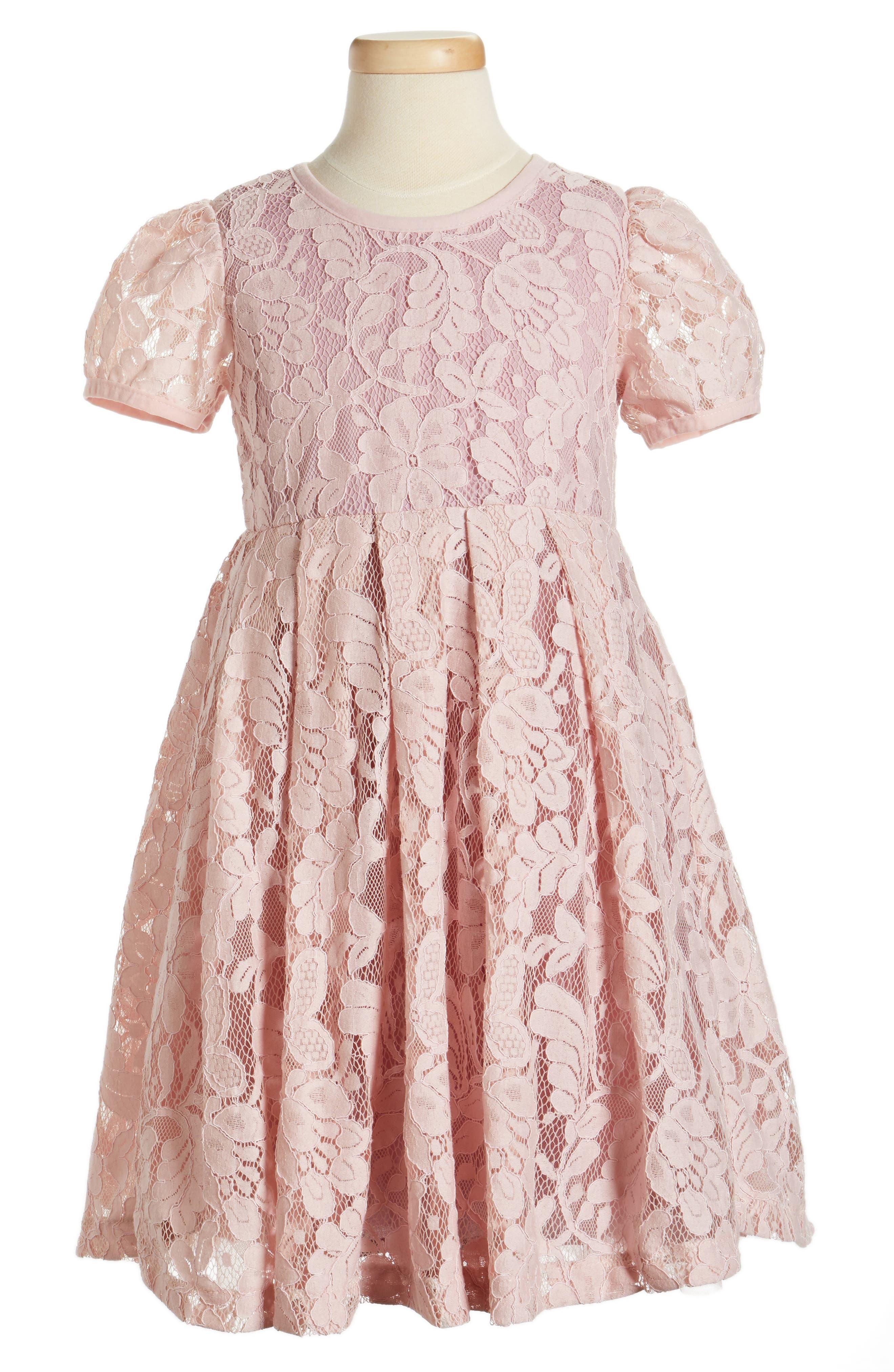 POPATU, Lace Dress, Main thumbnail 1, color, DUSTY PINK