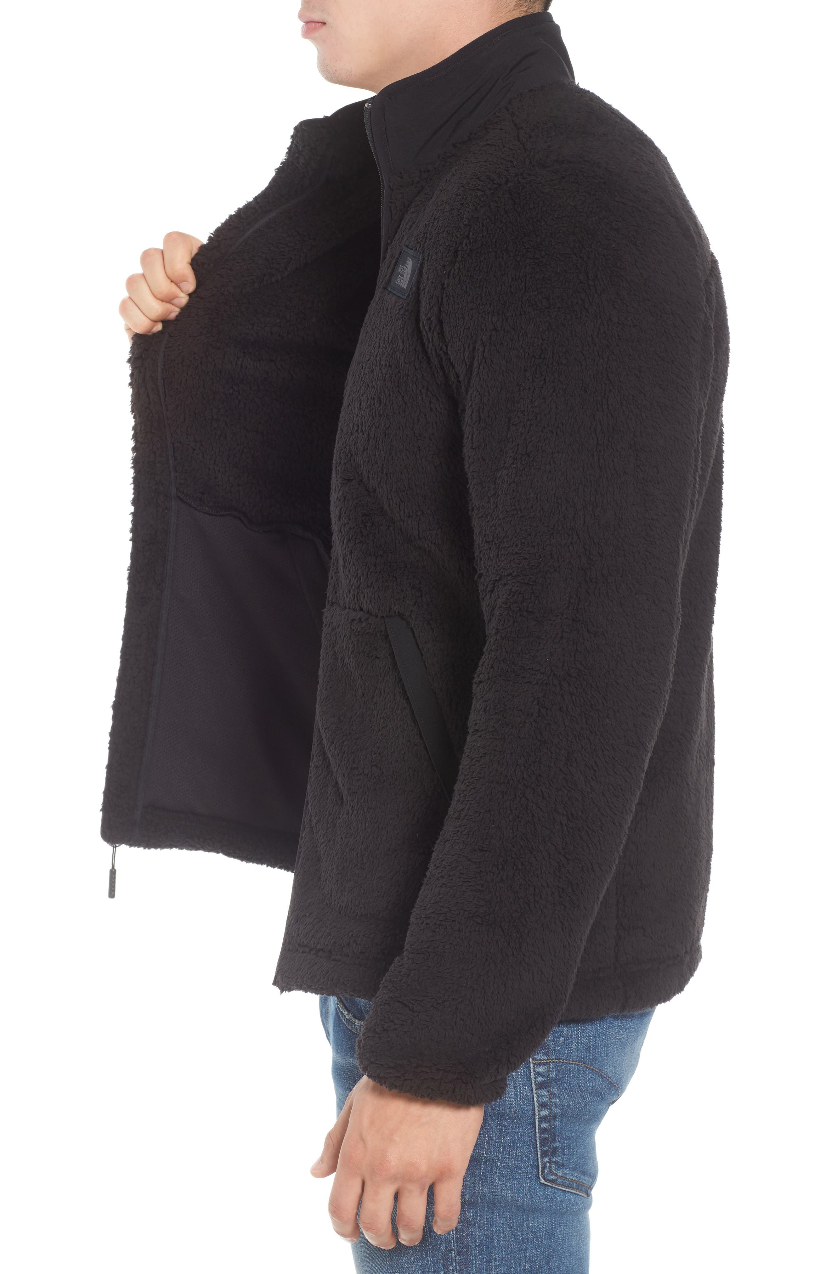 THE NORTH FACE, Campshire Zip Fleece Jacket, Alternate thumbnail 4, color, 001