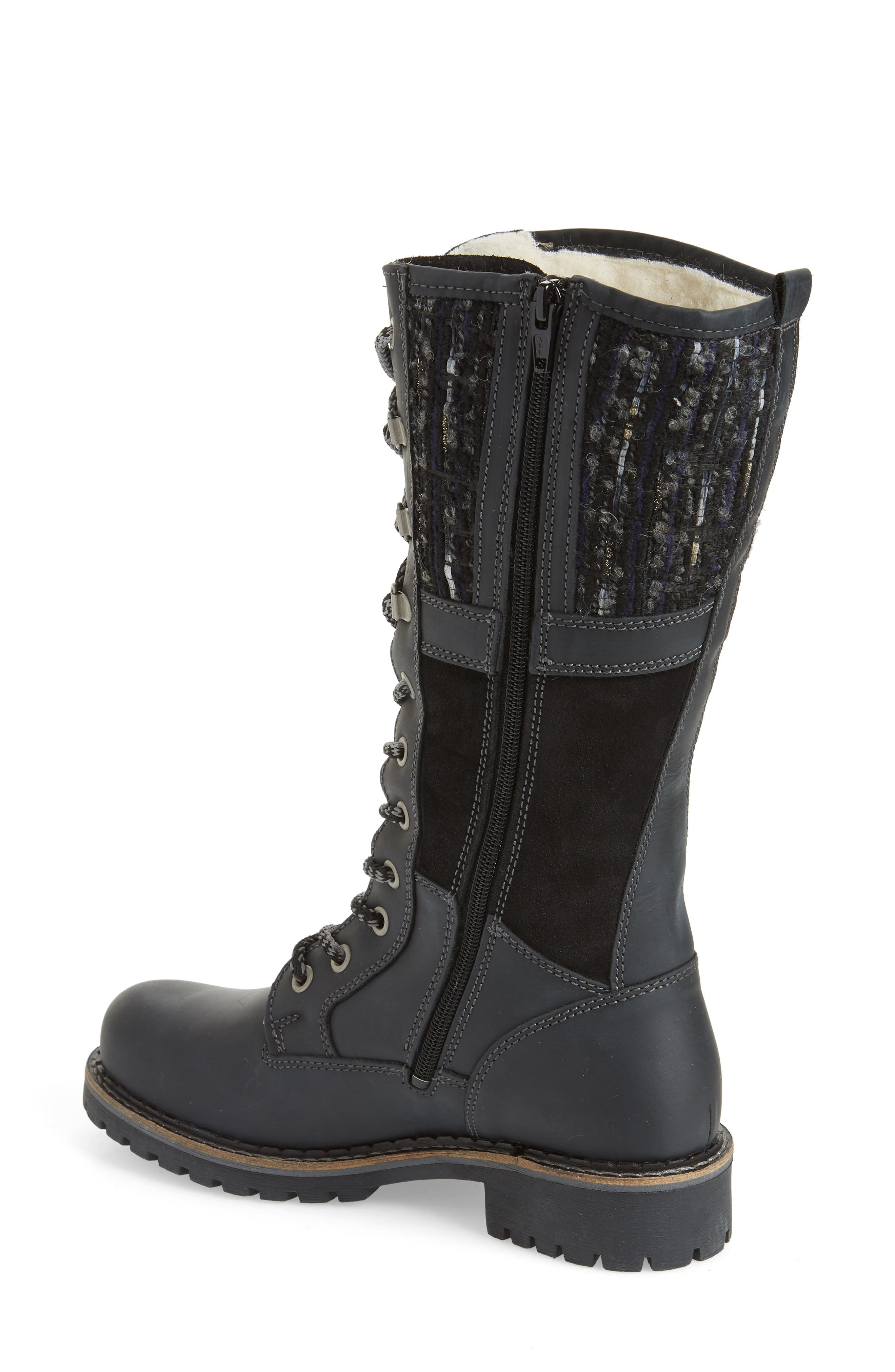 BOS. & CO., Holland Waterproof Boot, Alternate thumbnail 2, color, BLACK OIL SUEDE