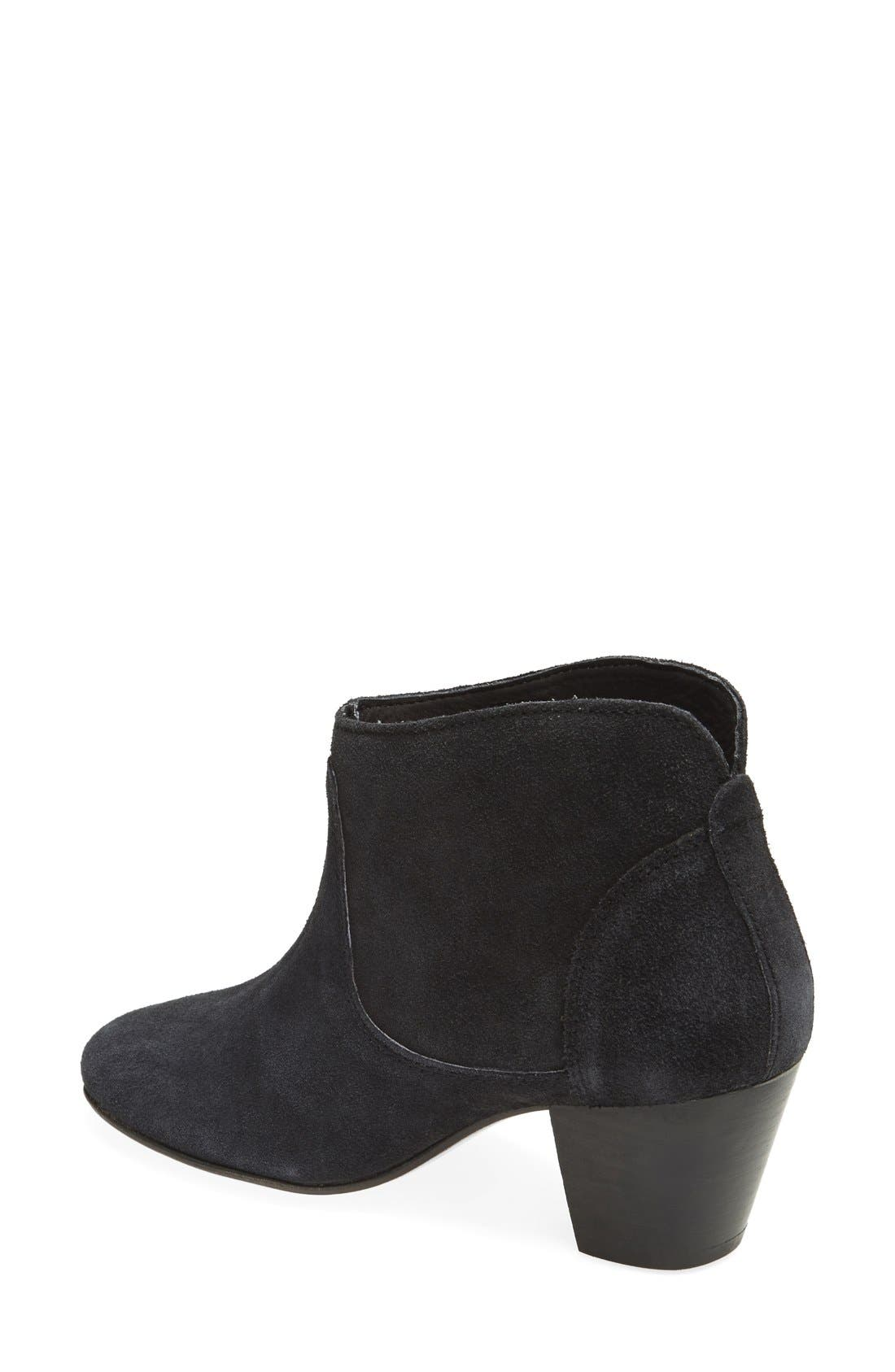 H BY HUDSON, 'Kiver' Suede Bootie, Alternate thumbnail 3, color, 001