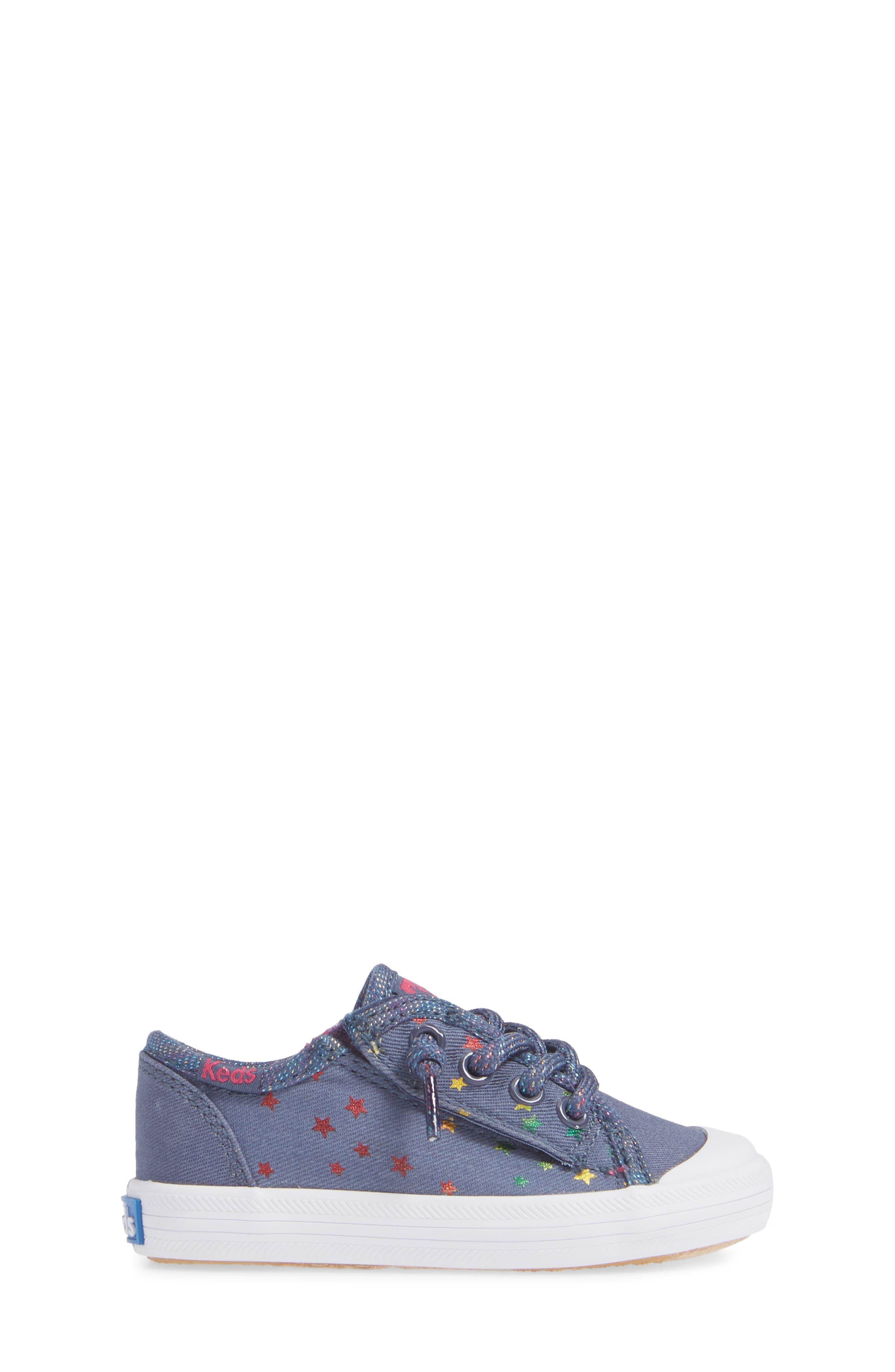 KEDS<SUP>®</SUP>, Kickstart Cap Toe Sneaker, Alternate thumbnail 3, color, STAR PERF